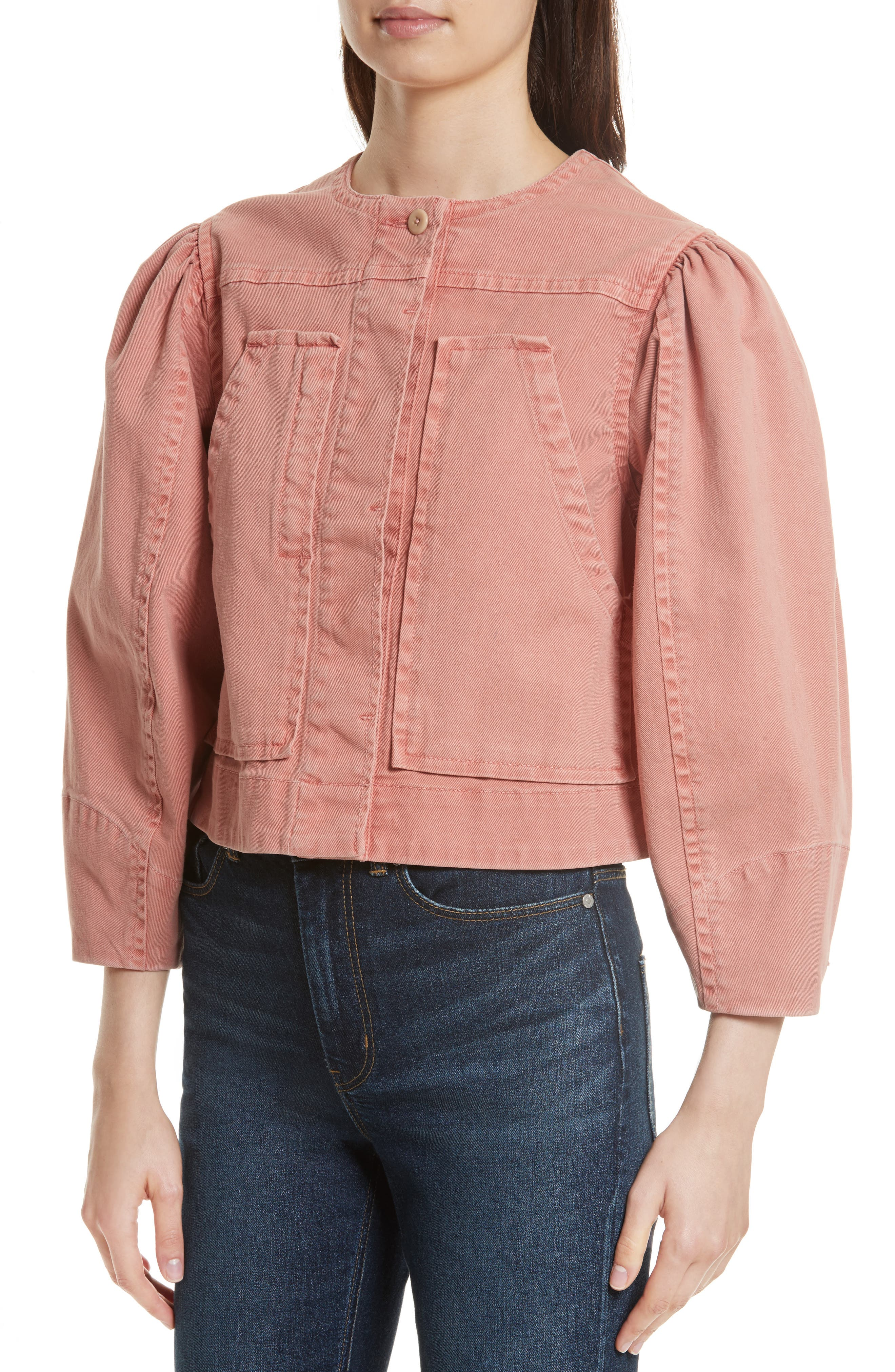Garment Dyed Twill Jacket,                             Alternate thumbnail 4, color,                             Cenelle
