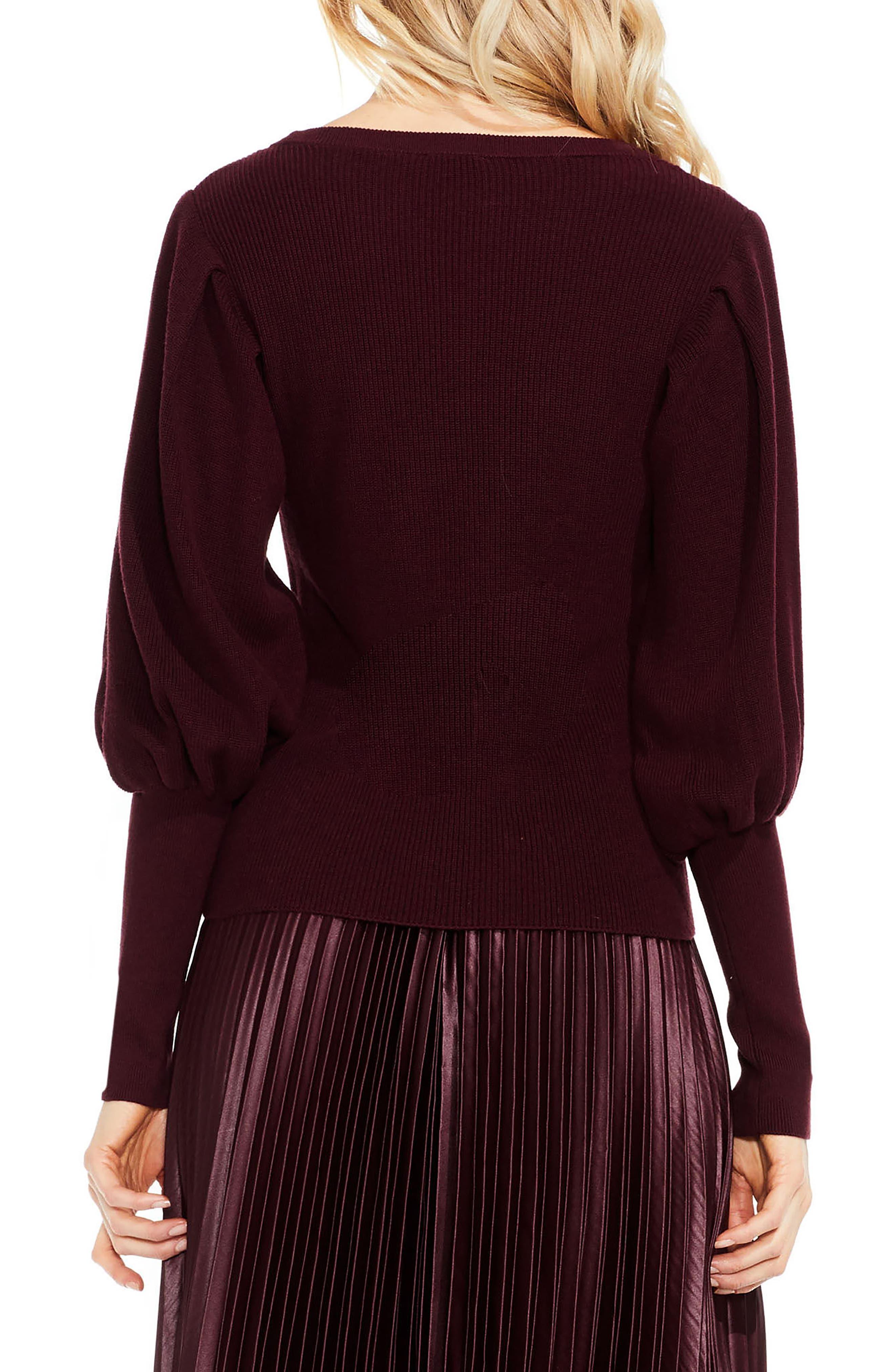 Alternate Image 3  - Vince Camuto Bubble Sleeve Sweater (Regular & Petite)