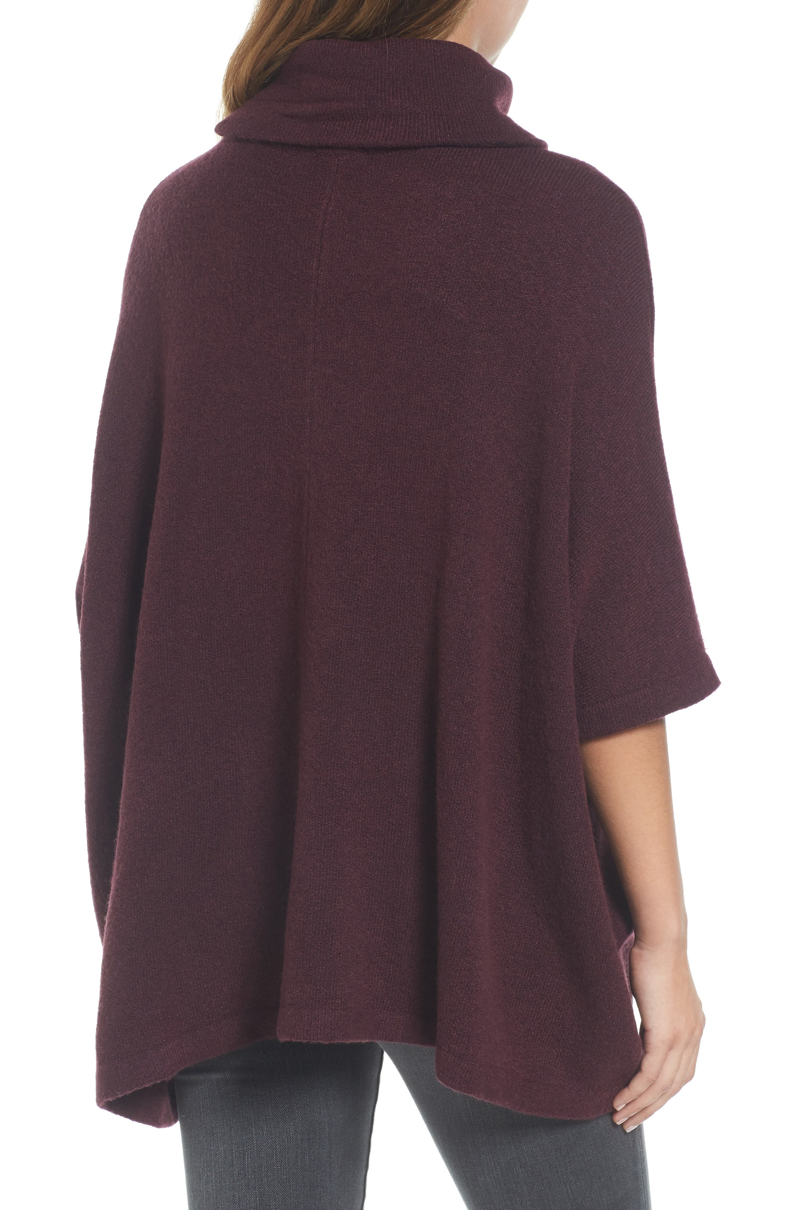 Alternate Image 2  - Caslon® Cowl Neck Sweater Poncho (Regular & Petite)