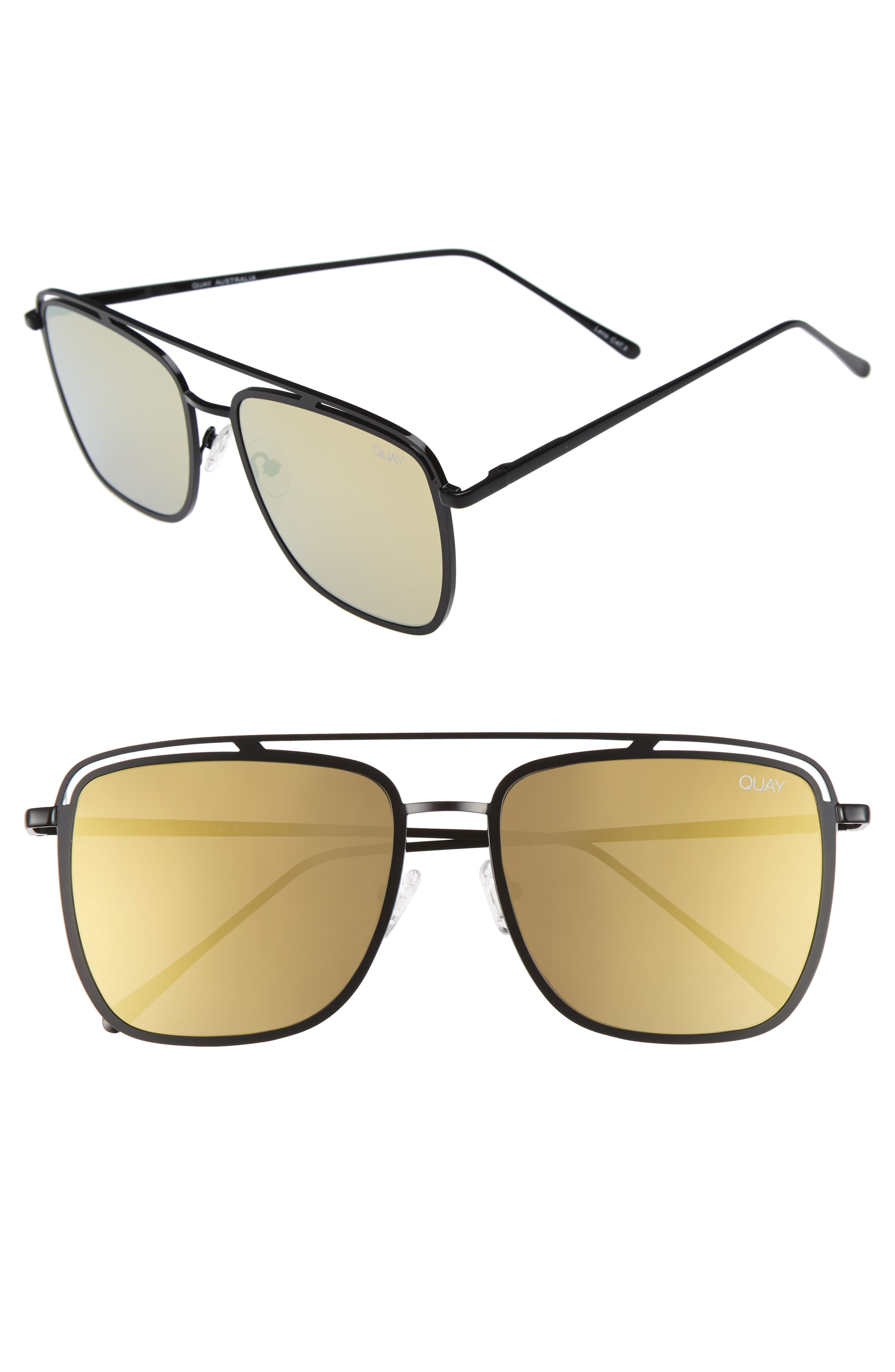 QUAY AUSTRALIA Mr. Black 58mm Navigator Sunglasses
