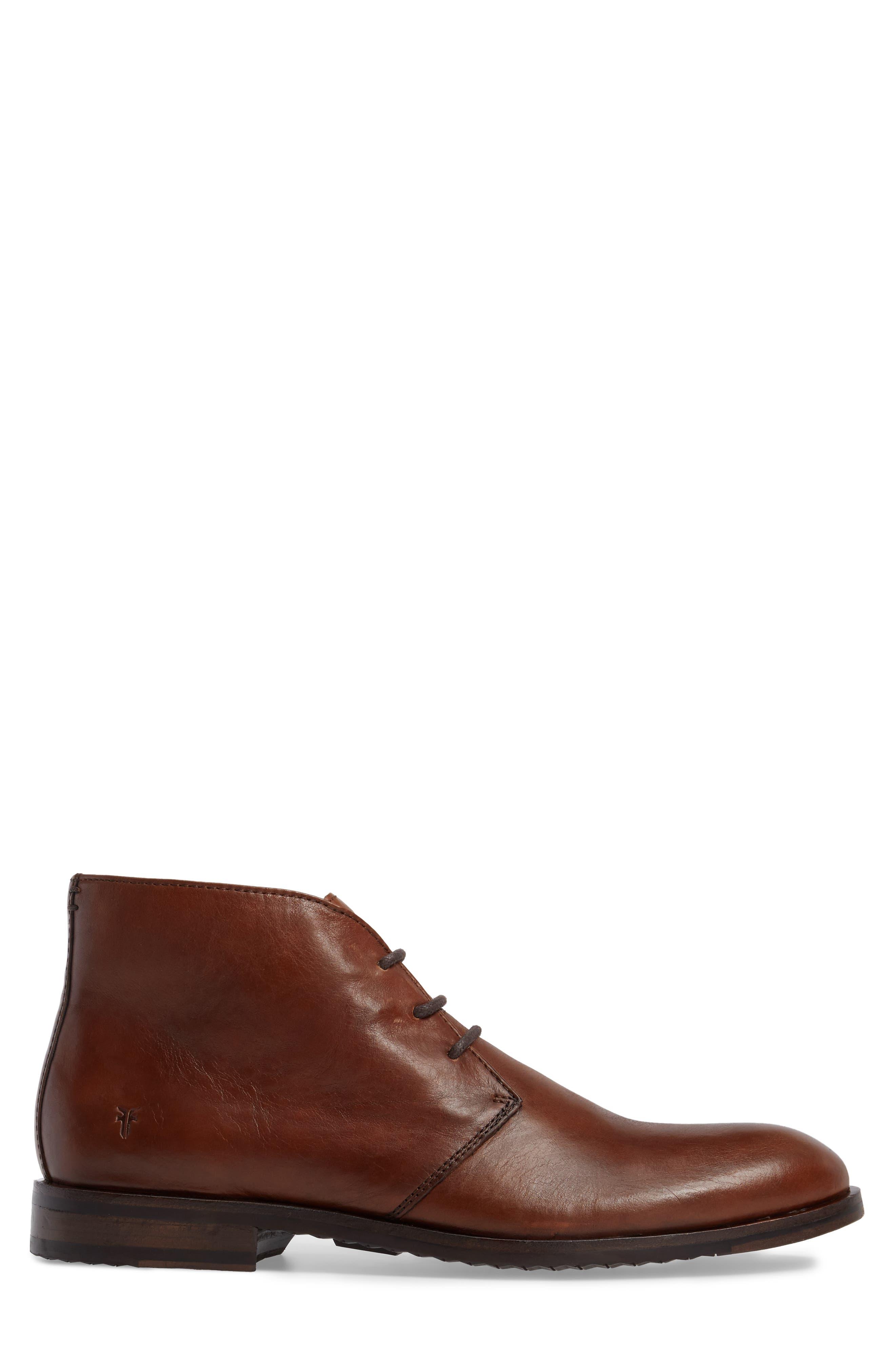 Sam Chukka Boot,                             Alternate thumbnail 3, color,                             Cognac Leather