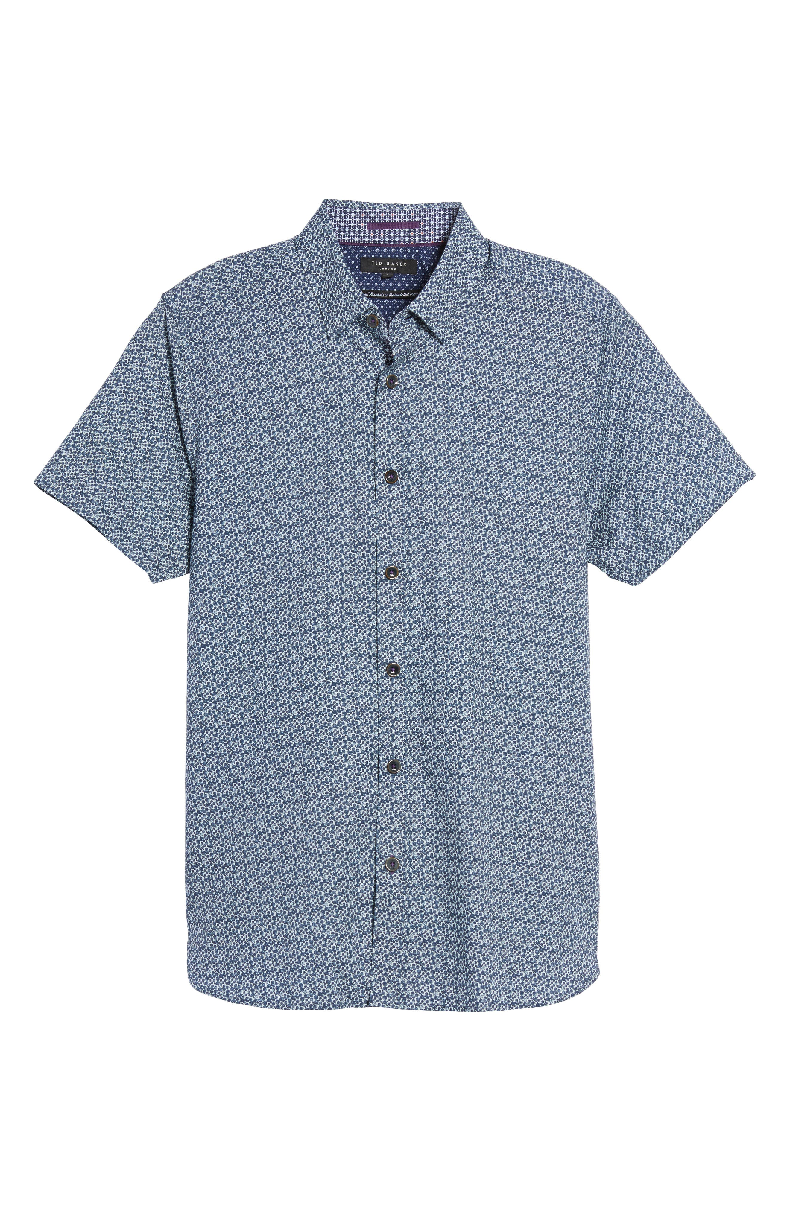 Alternate Image 5  - Ted Baker London Bubbly Extra Slim Fit Print Sport Shirt