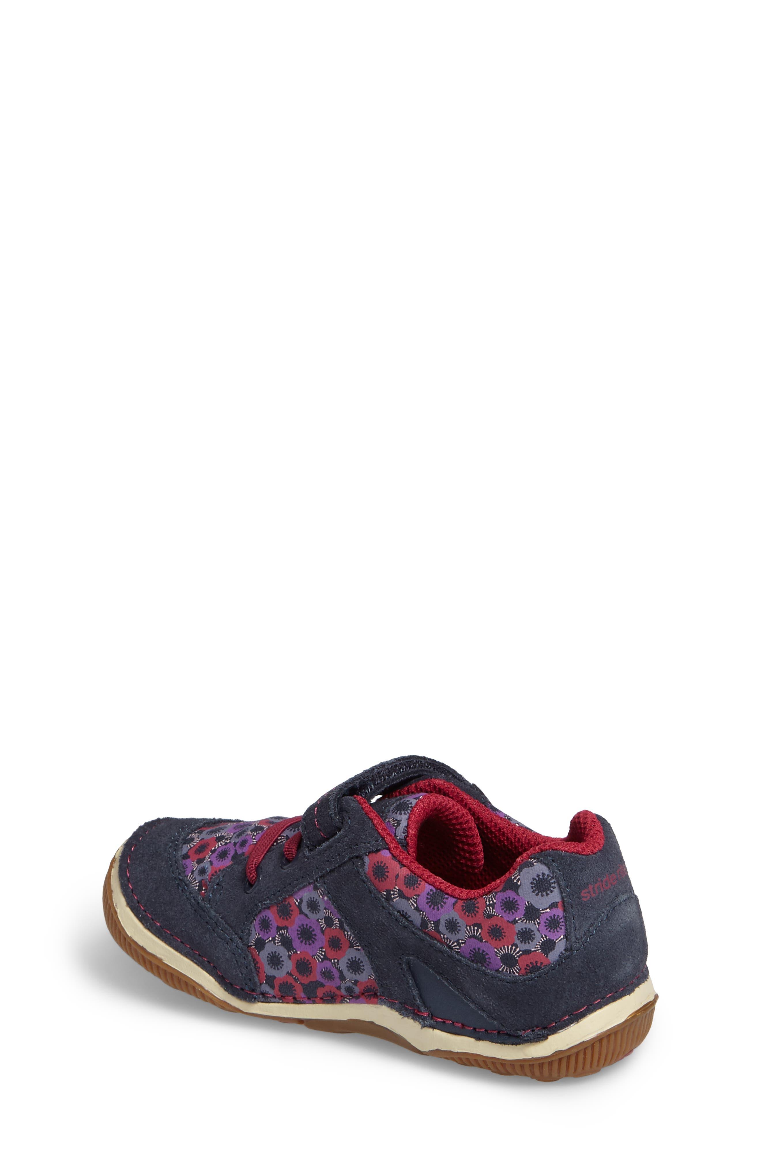 Armorie Flower Print Sneaker,                             Alternate thumbnail 2, color,                             Navy