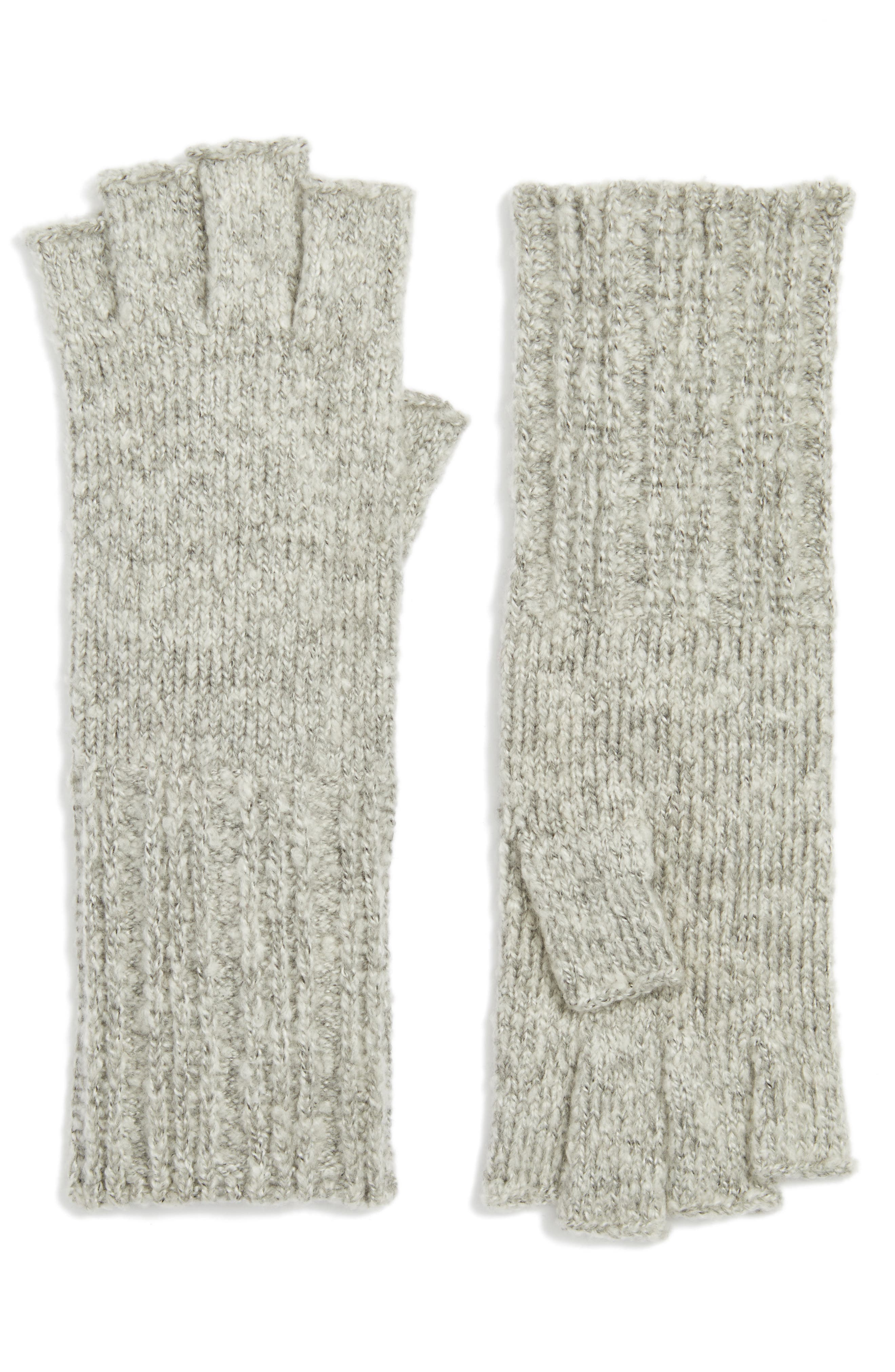 Halogen® Rib Knit Fingerless Gloves
