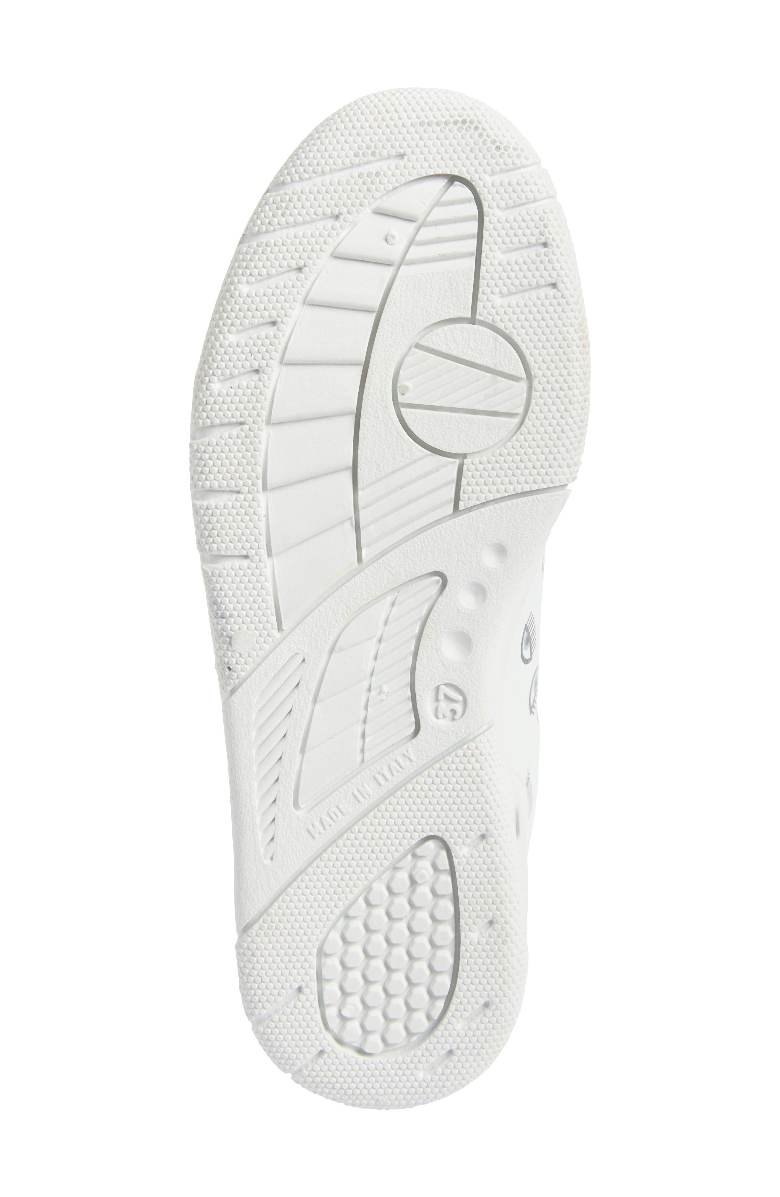 Logo Roger Eyelash Sneaker,                             Alternate thumbnail 6, color,                             White