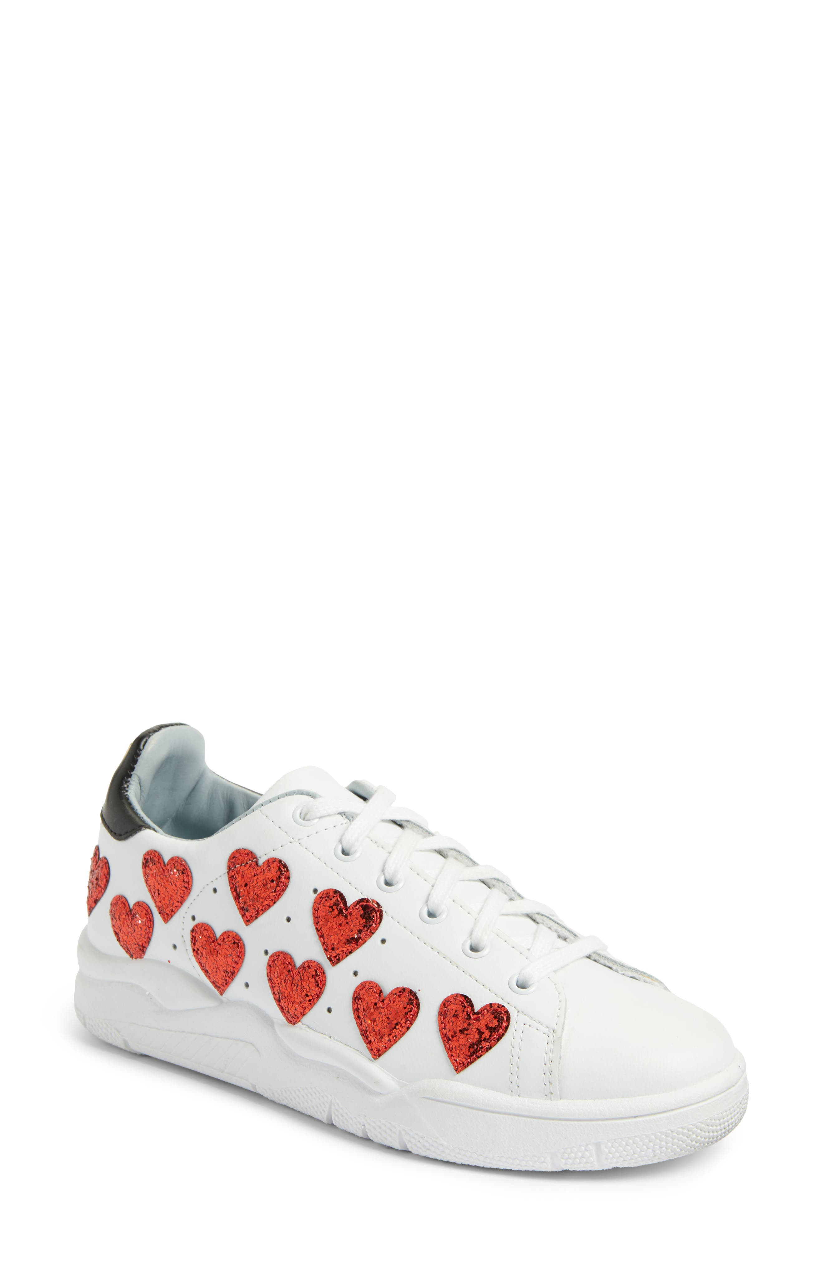 Hearts Roger Sneaker,                         Main,                         color, White/ Red