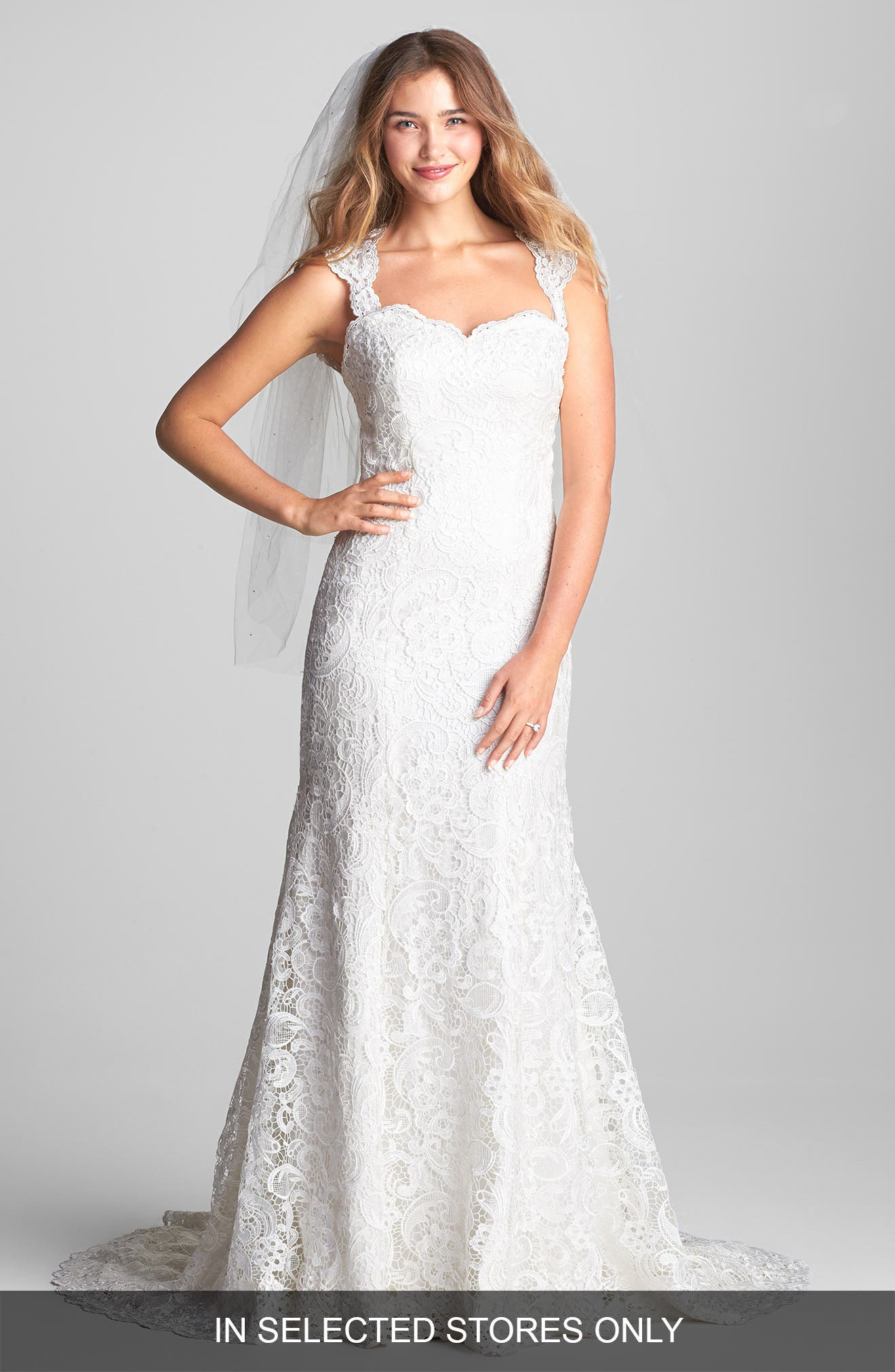 Main Image - Olia Zavozina 'Ann' Lace Fluted Dress (In Stores Only)