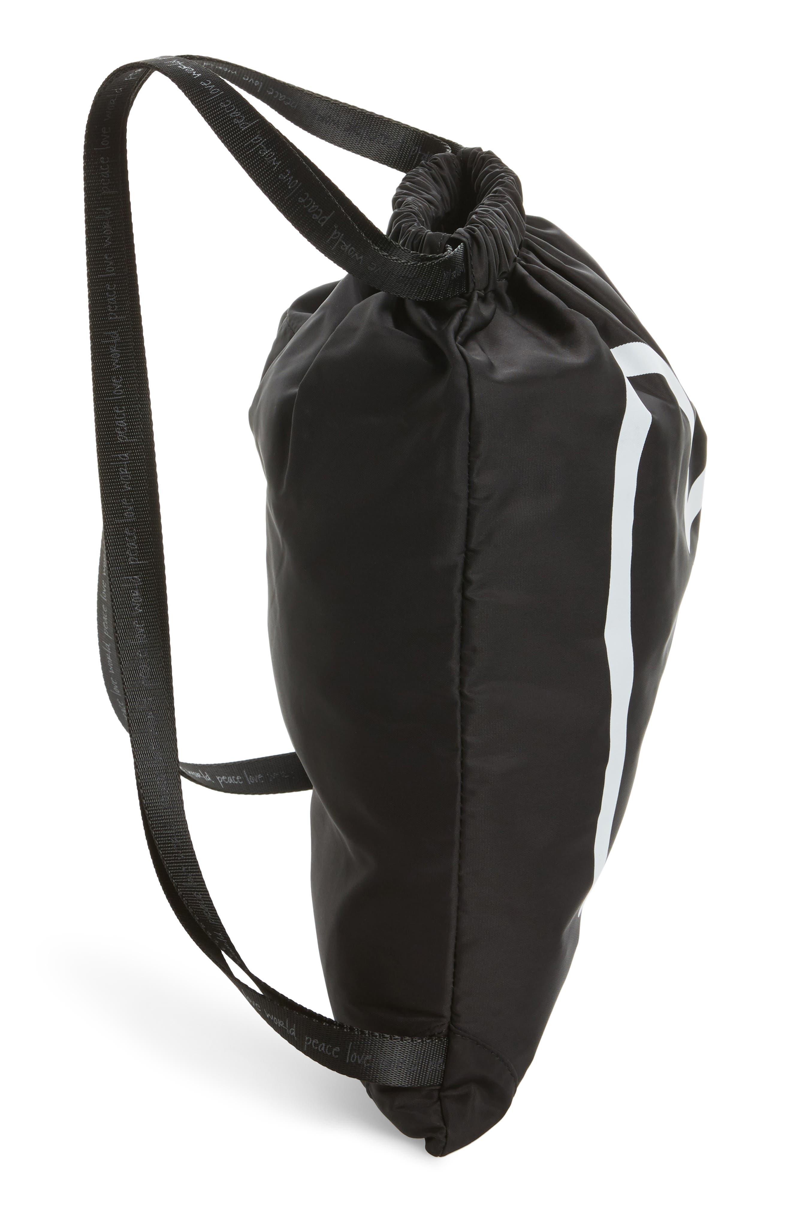 Alternate Image 4  - Peace Love World Drawstring Nylon Backpack