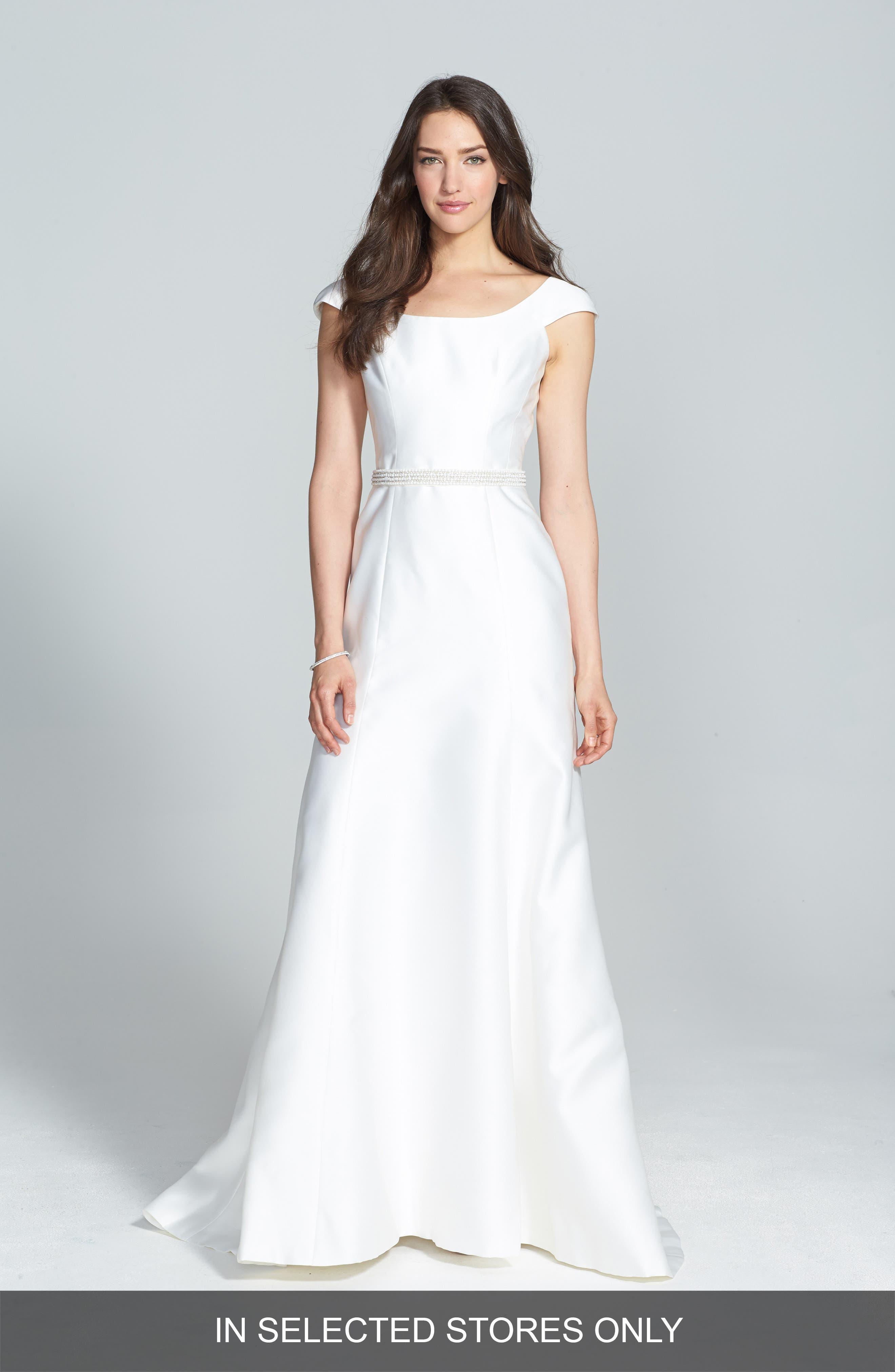 Jesús Peiró Embellished Waist Mikado A-Line Dress