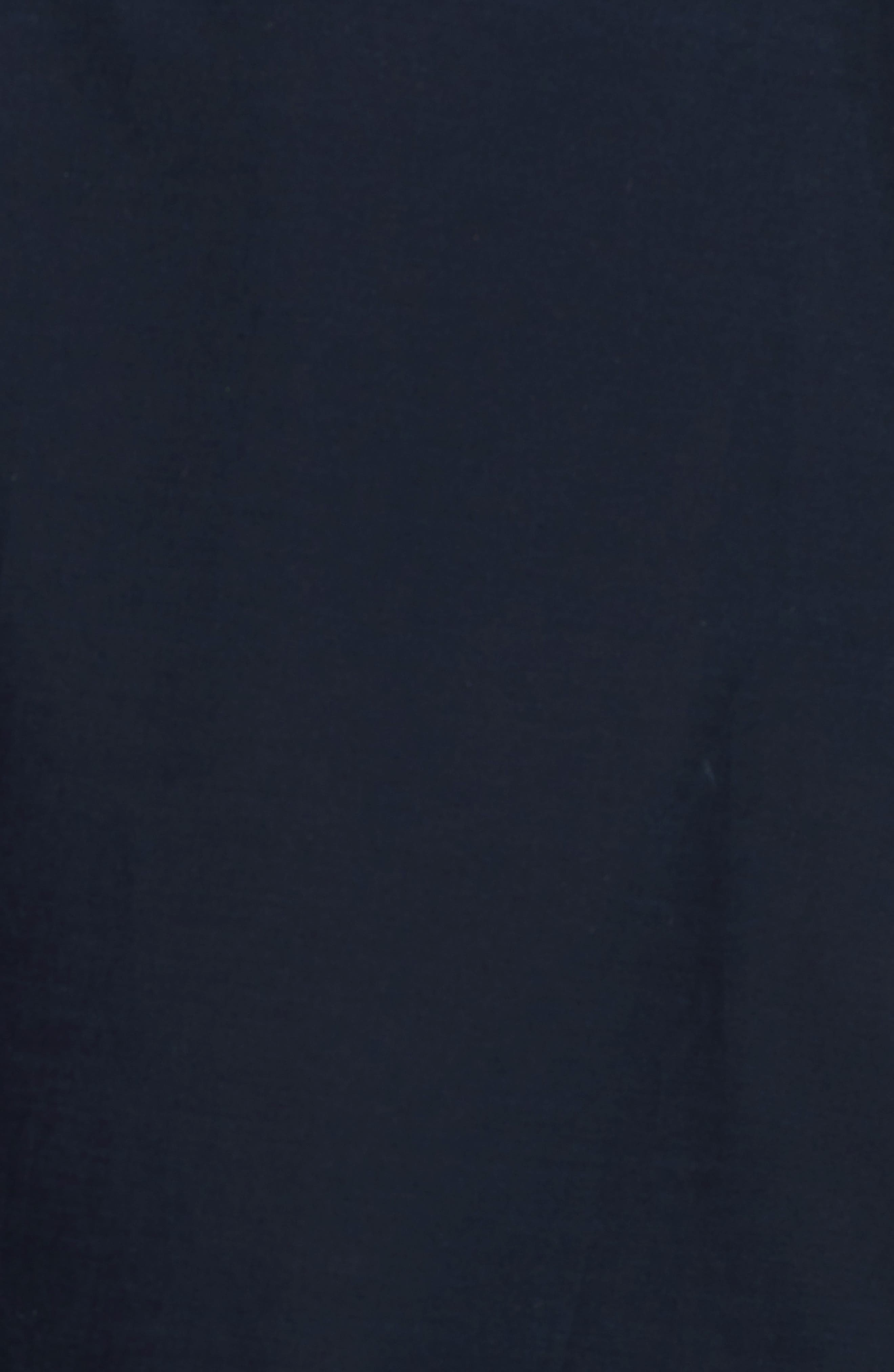 Ruffle Cotton A-Line Skirt,                             Alternate thumbnail 3, color,                             Navy