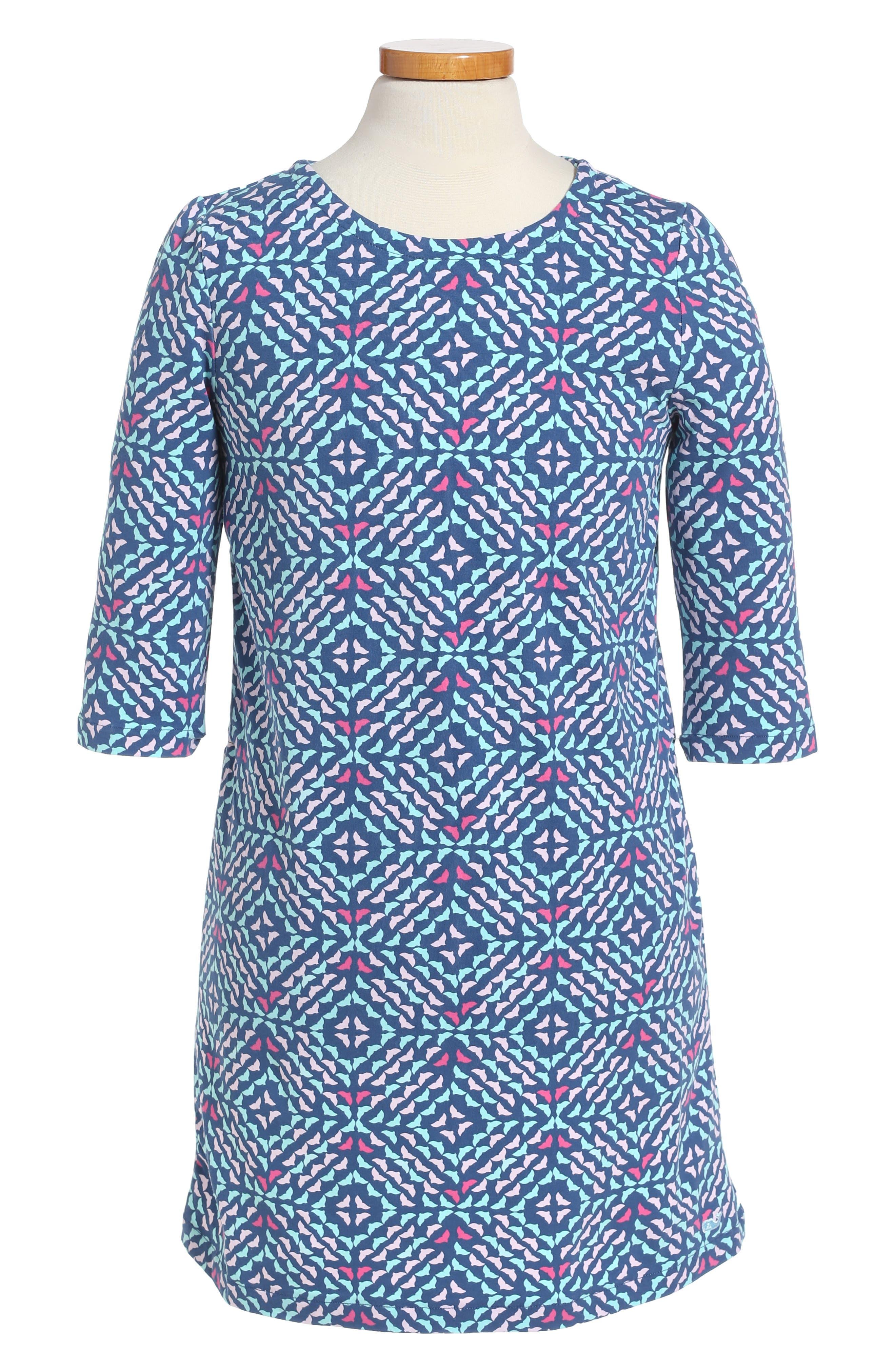 vineyard vines Whale Tail Shift Dress (Toddler Girls)