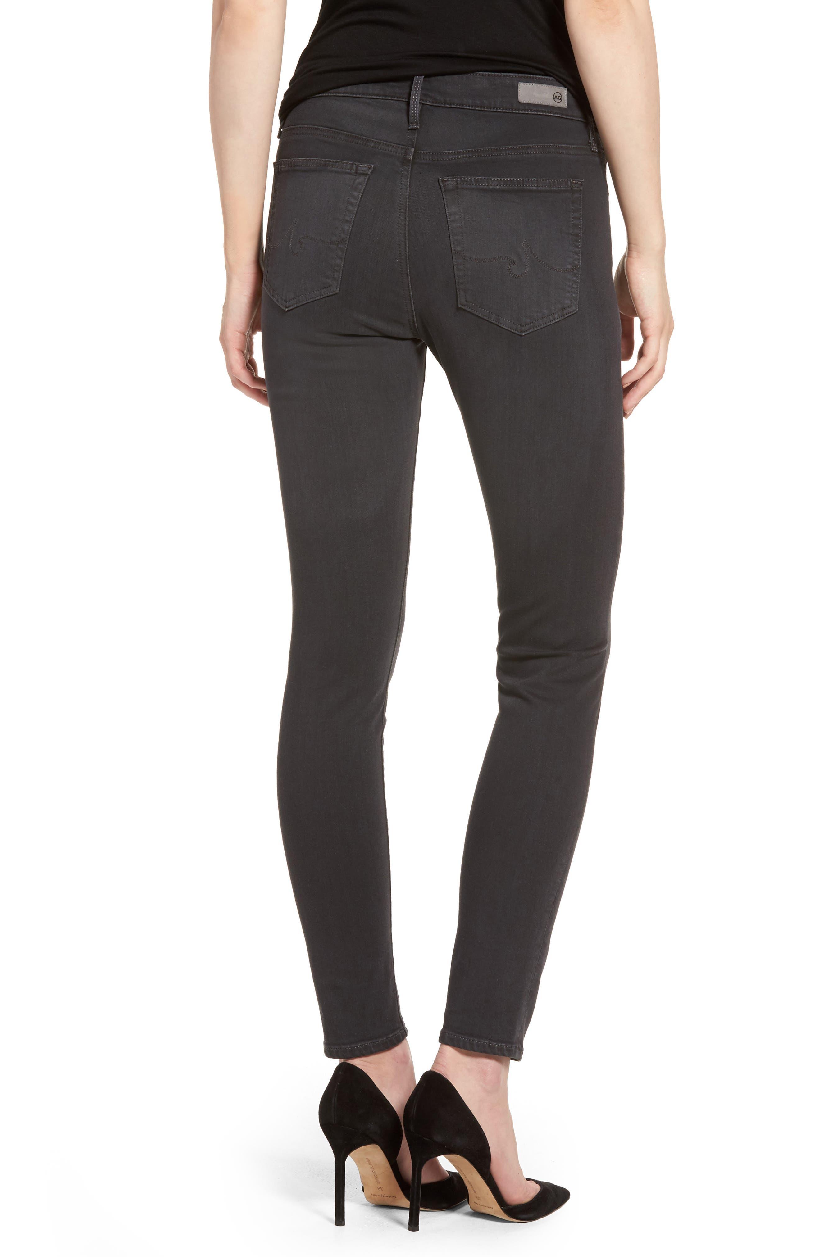Alternate Image 2  - AG Farrah High Waist Ankle Skinny Jeans (Grey Mist)