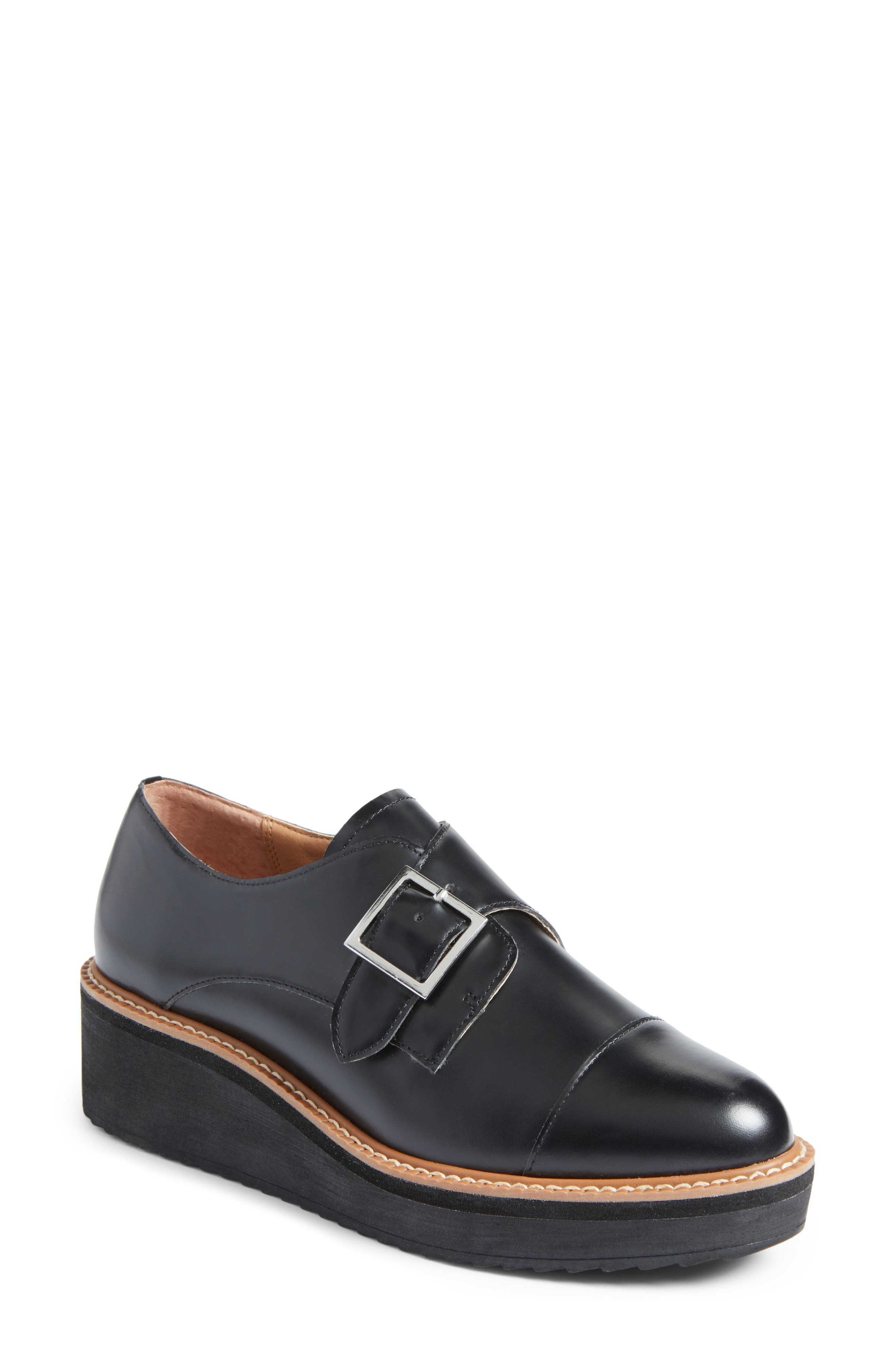 Halogen® Emma Monk Strap Oxford (Women)
