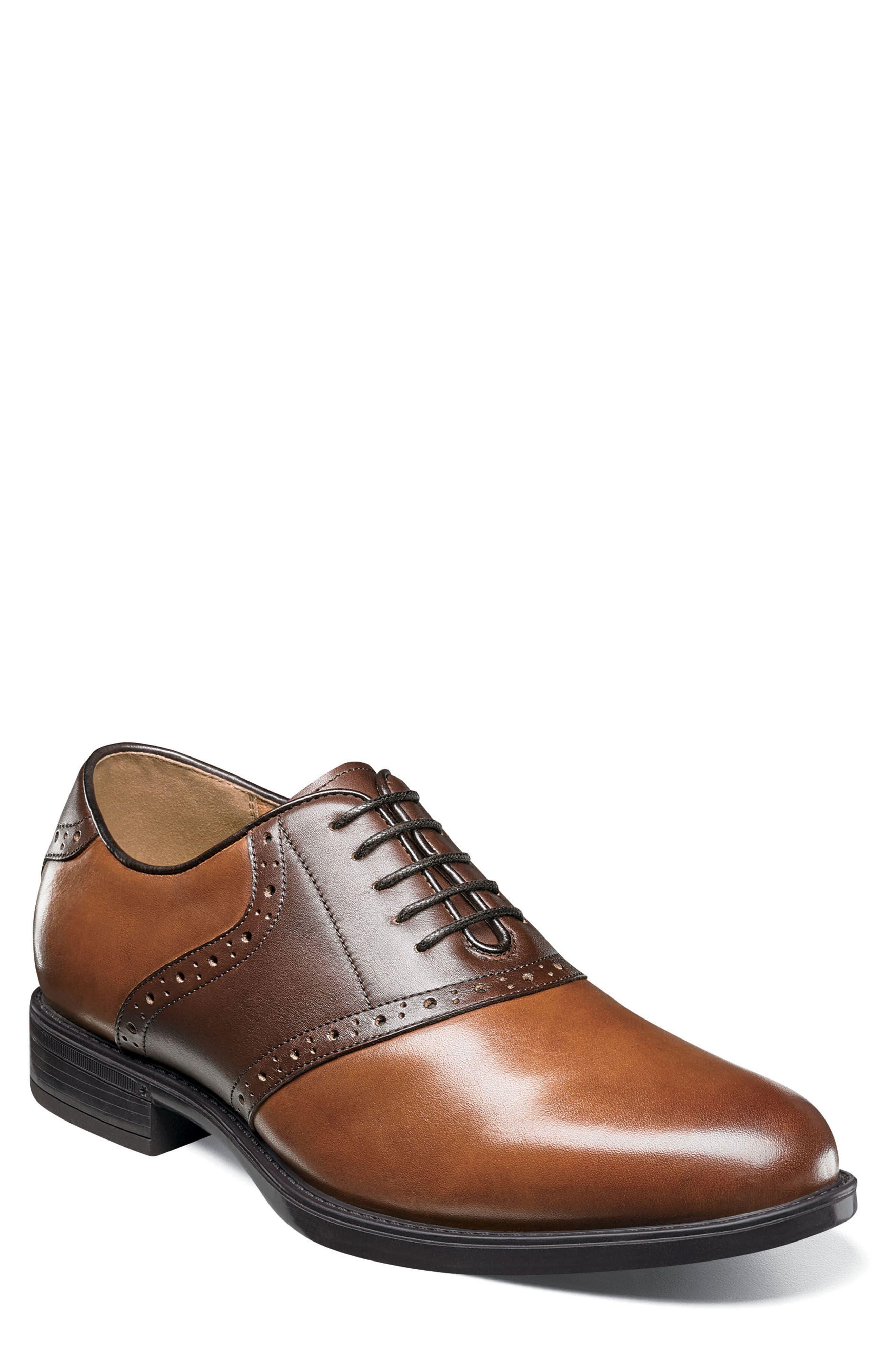 Midtown Saddle Oxford,                             Main thumbnail 1, color,                             Cognac Multi