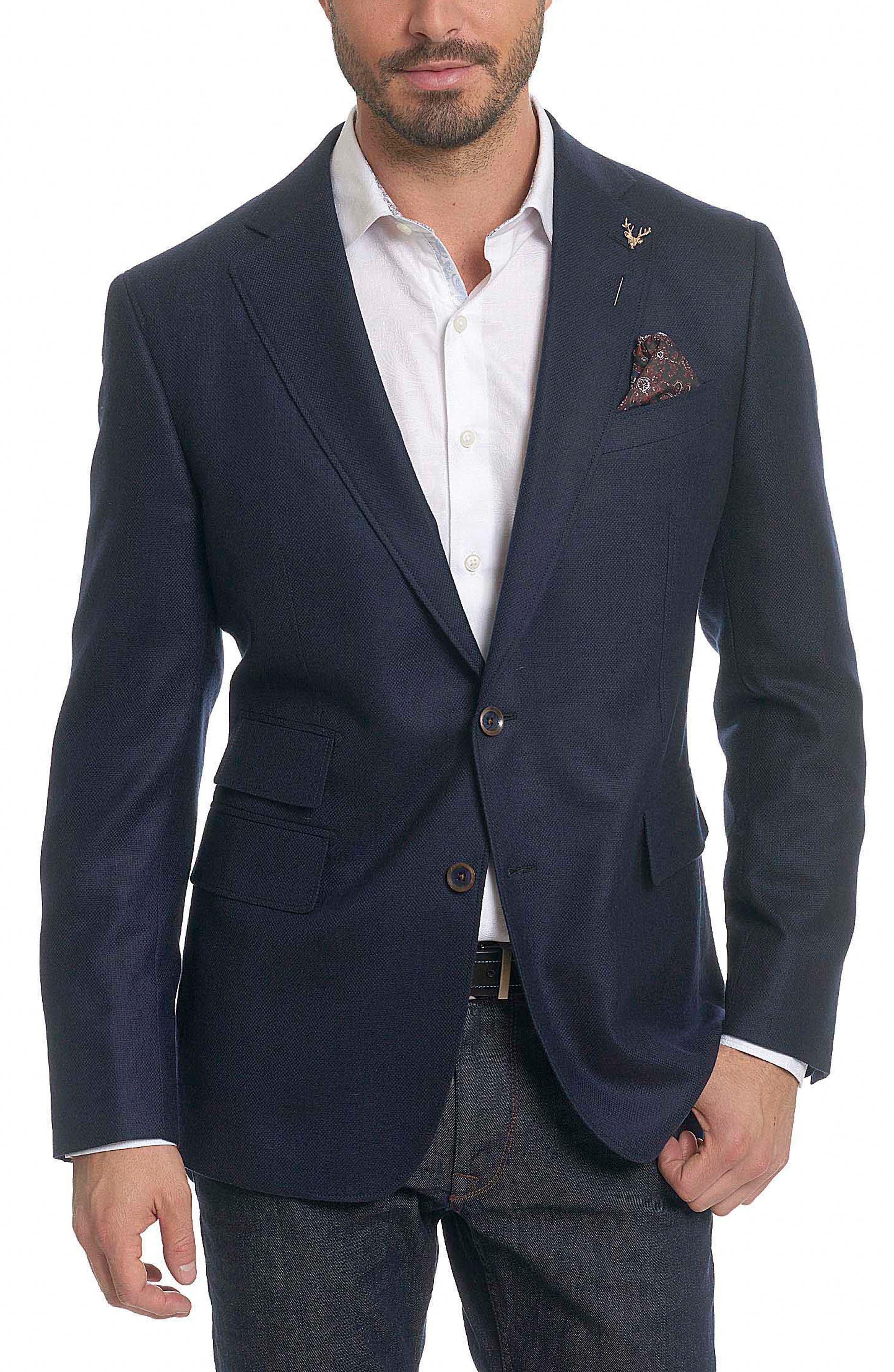 Newburgh Classic Fit Cashmere Sport Coat,                         Main,                         color, Navy