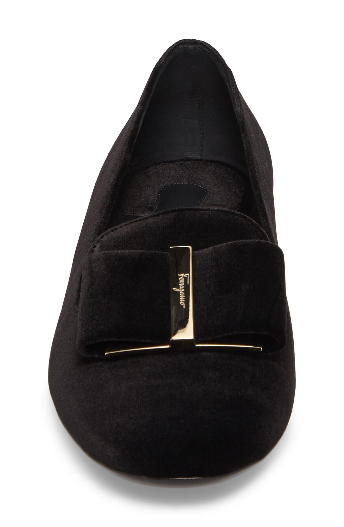 Alternate Image 4  - Salvatore Ferragamo Sarno Flower Heel Smoking Loafer (Women)