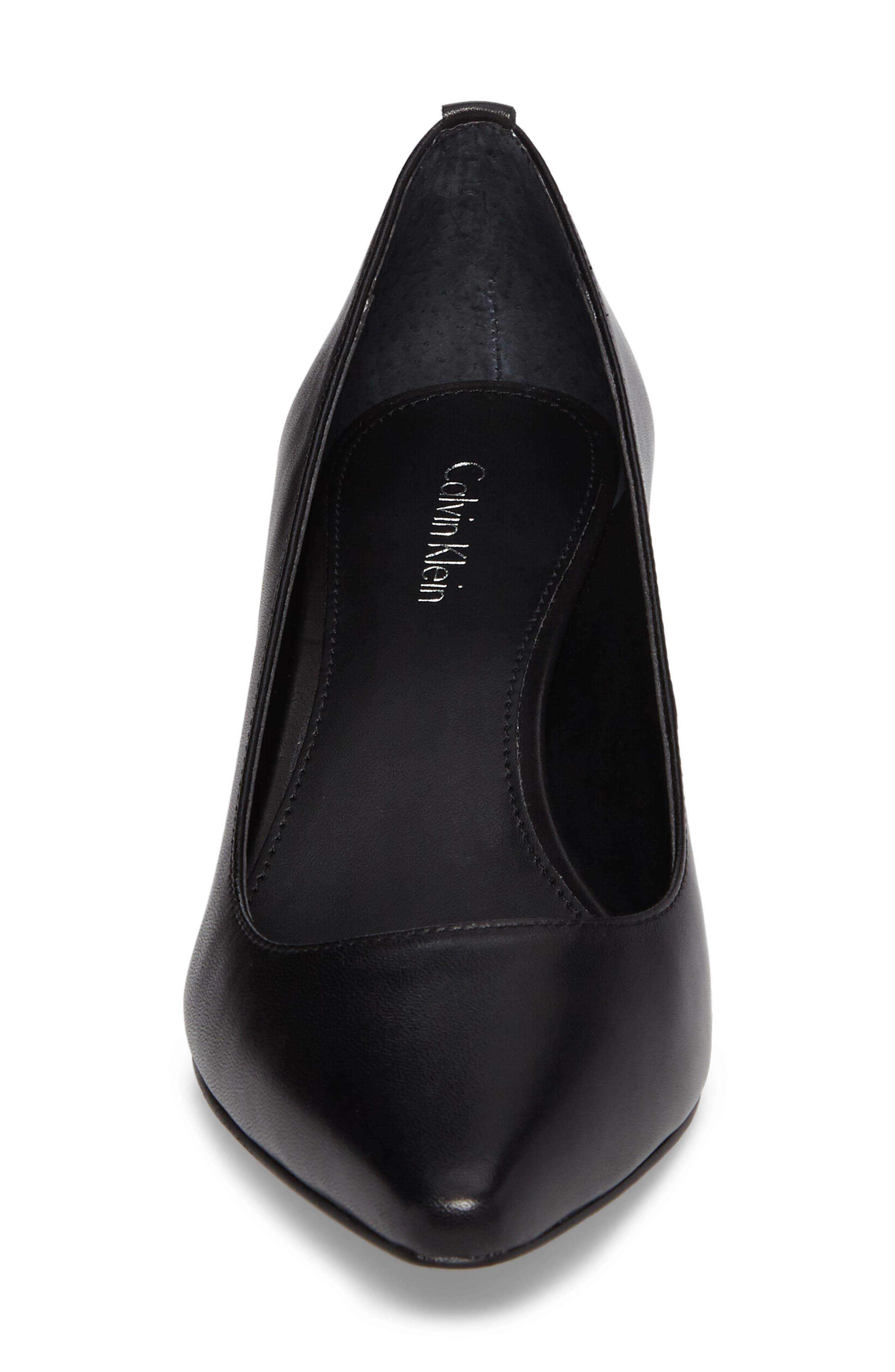 Natalynn 2 Texture Heel Pump,                             Alternate thumbnail 4, color,                             Black