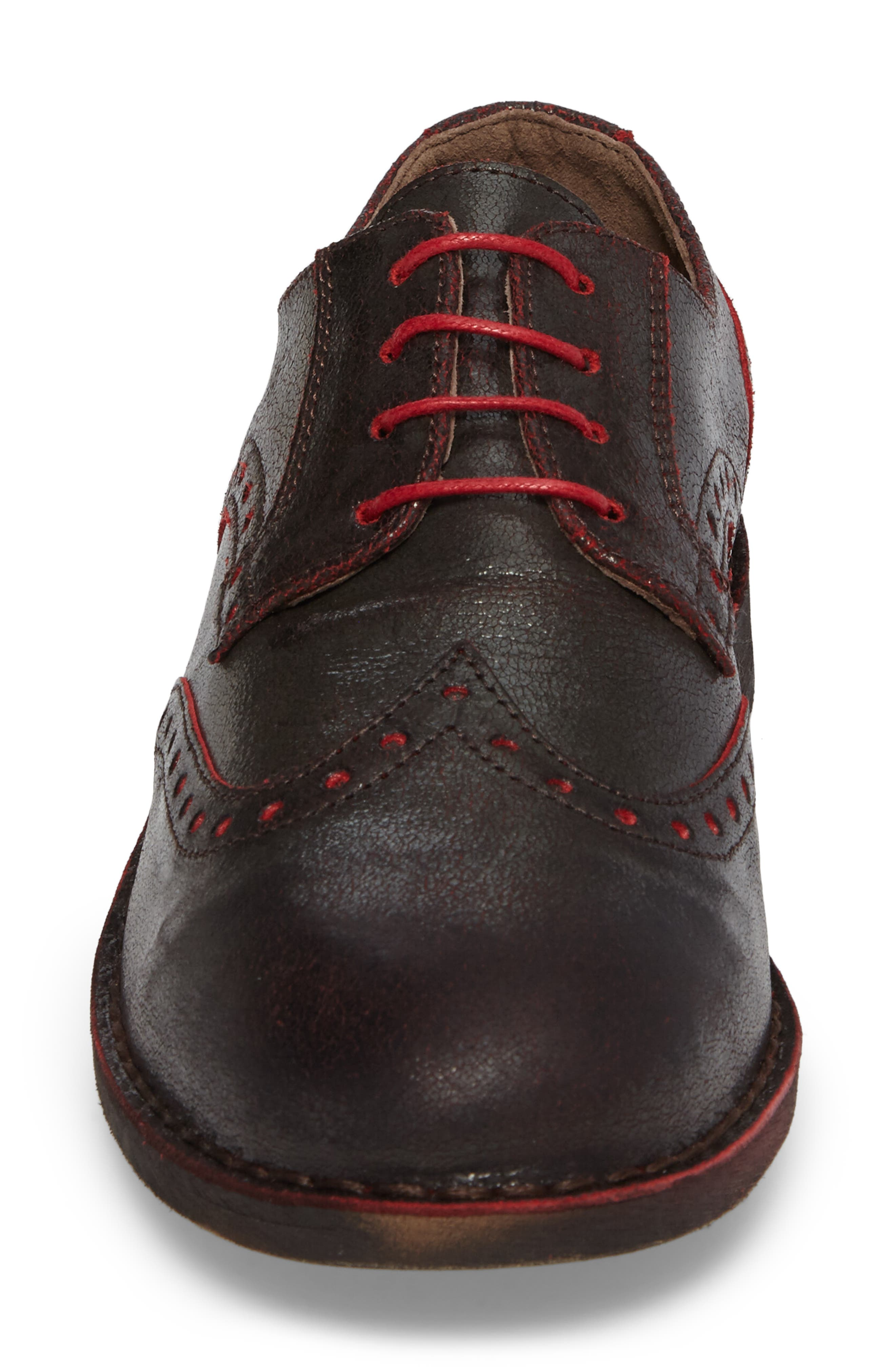 Idal Wingtip,                             Alternate thumbnail 5, color,                             Brown/ Red