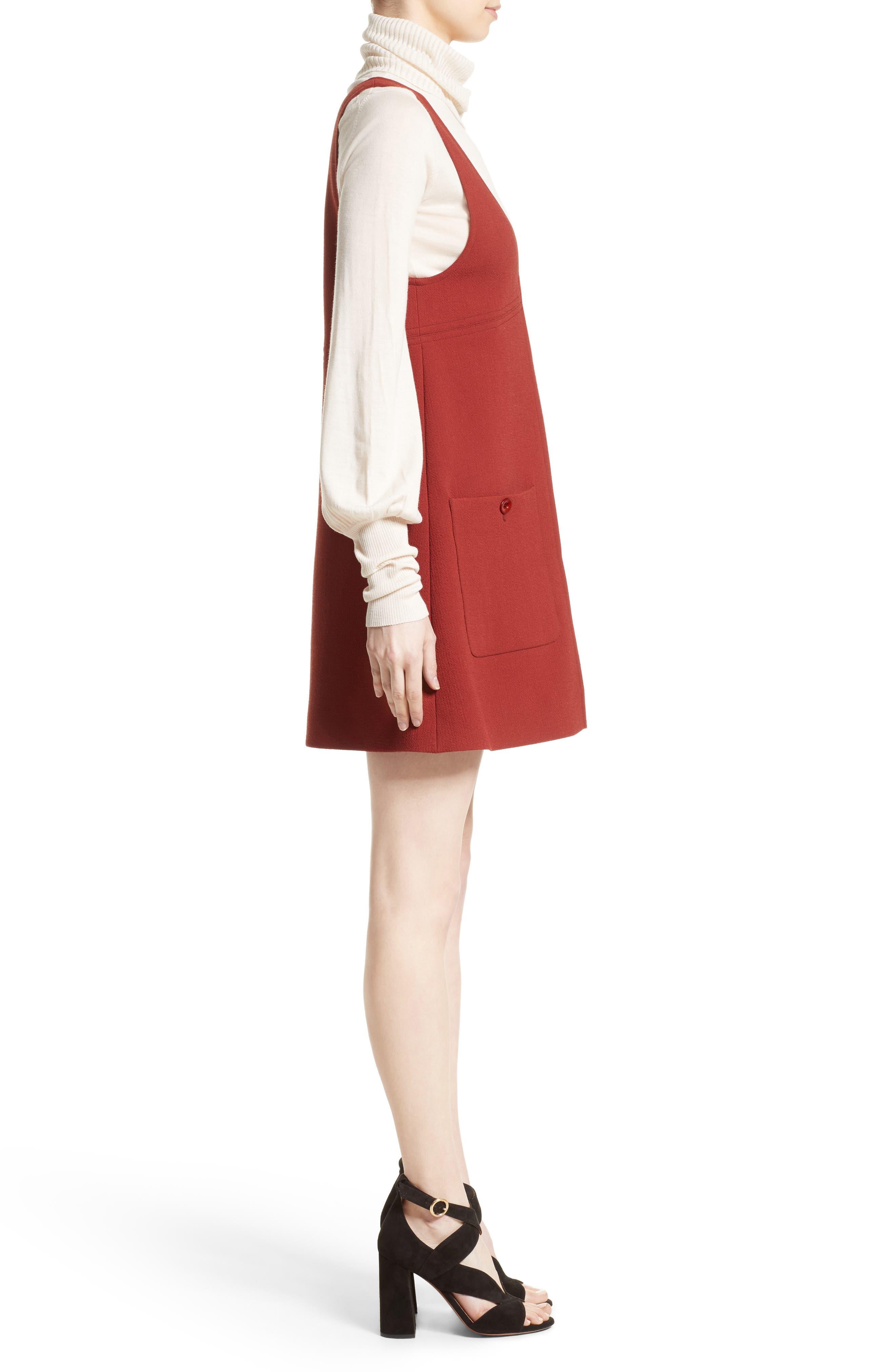 Alternate Image 4  - Chloé Wool Crepe Jumper Dress