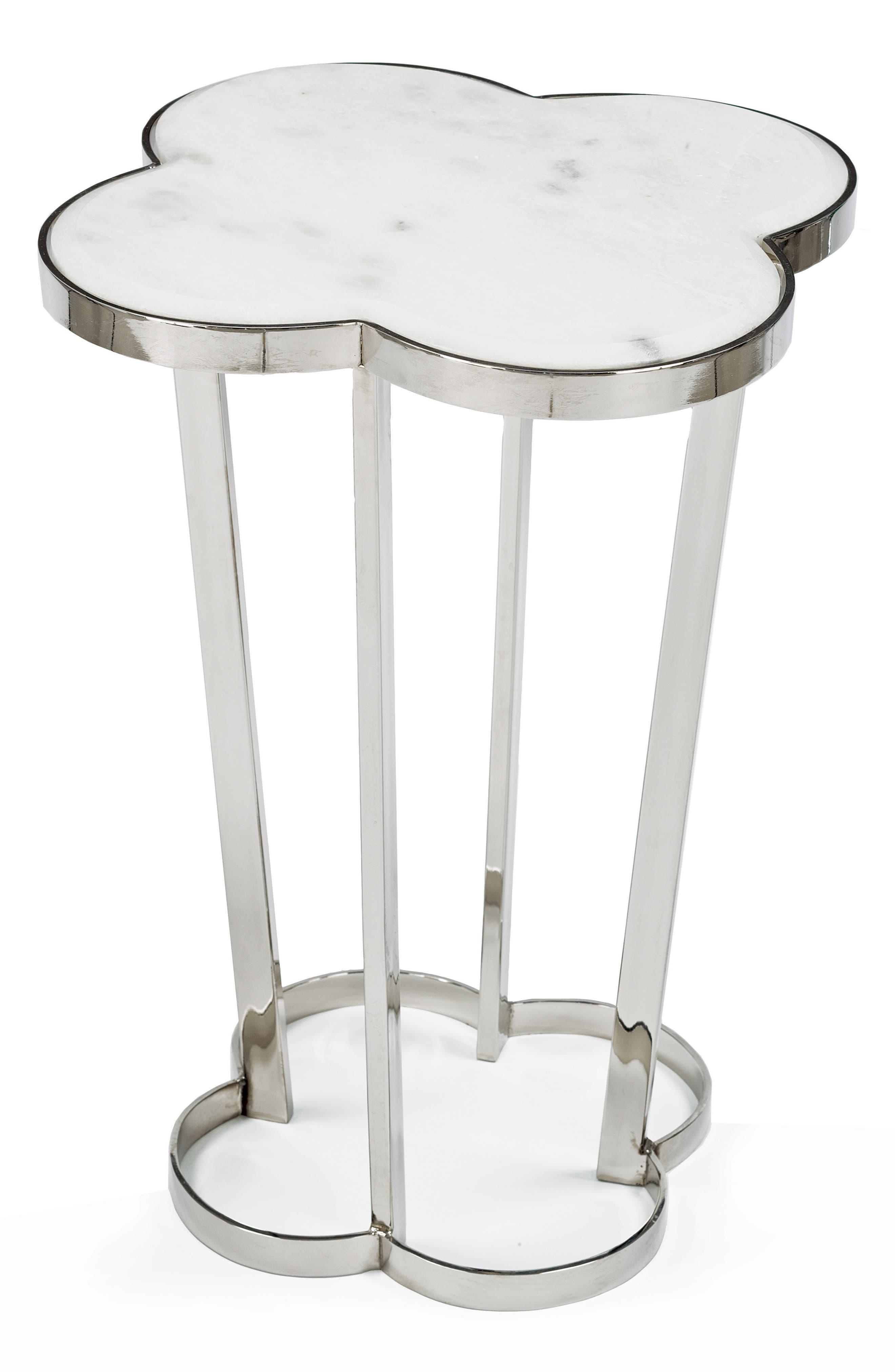 Clover Table,                         Main,                         color, Silver