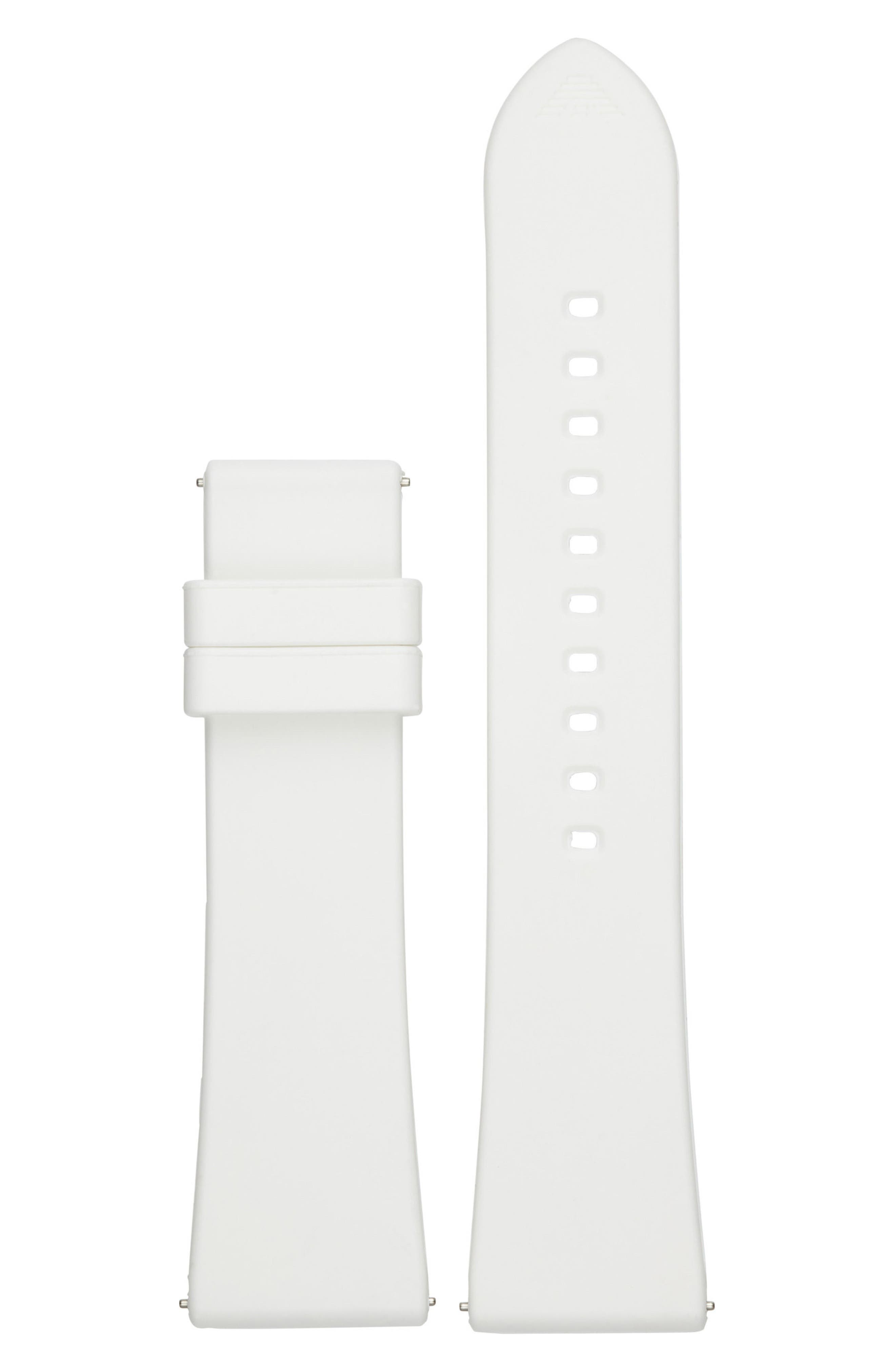 22mm Rubber Watch Strap,                         Main,                         color, White