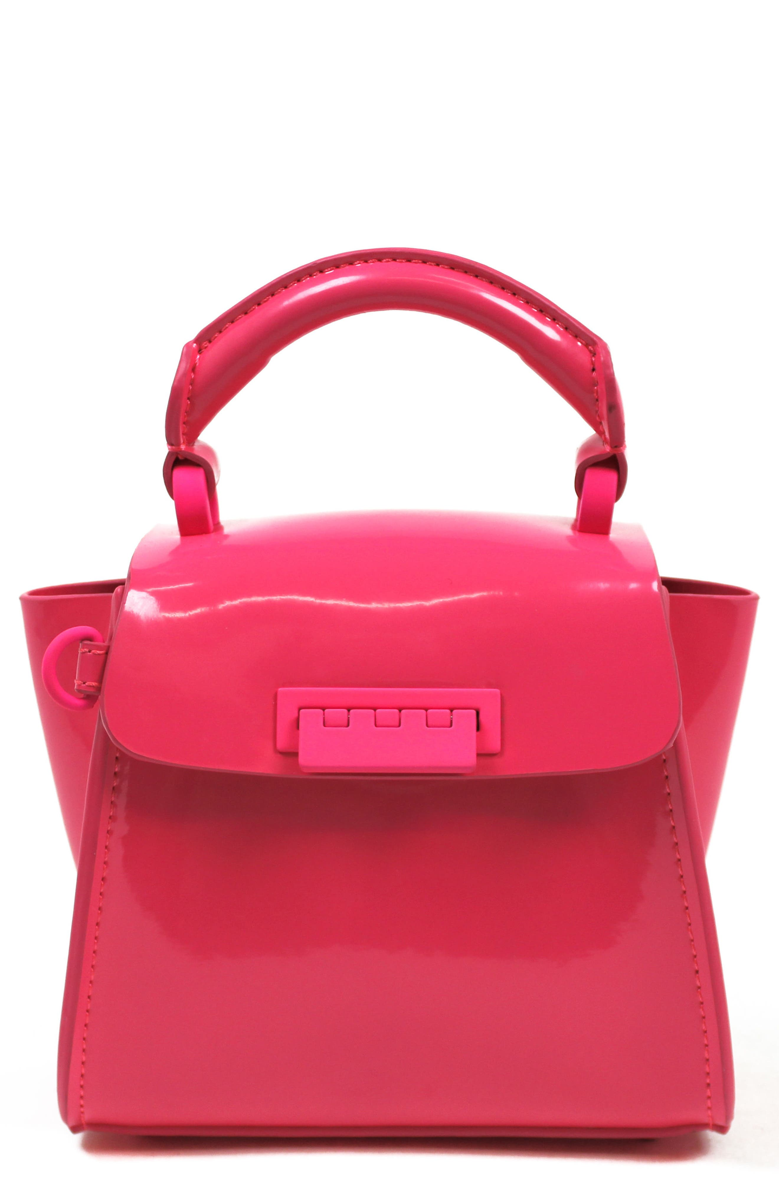 Eartha Iconic Patent Leather Mini Bag,                             Main thumbnail 1, color,                             Neon Pink