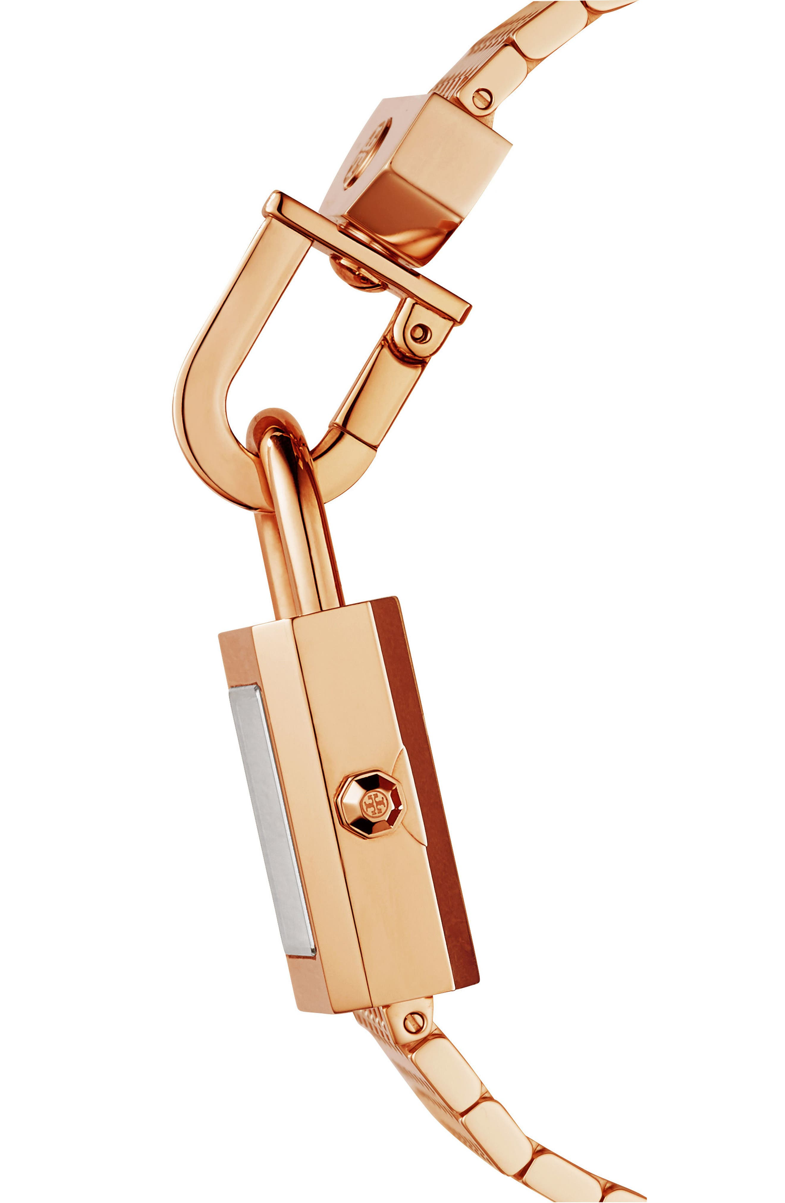 Surrey Mesh Bracelet Watch, 22mm x 23.5mm,                             Alternate thumbnail 2, color,                             Rose Gold/ Ivory/ Rose Gold