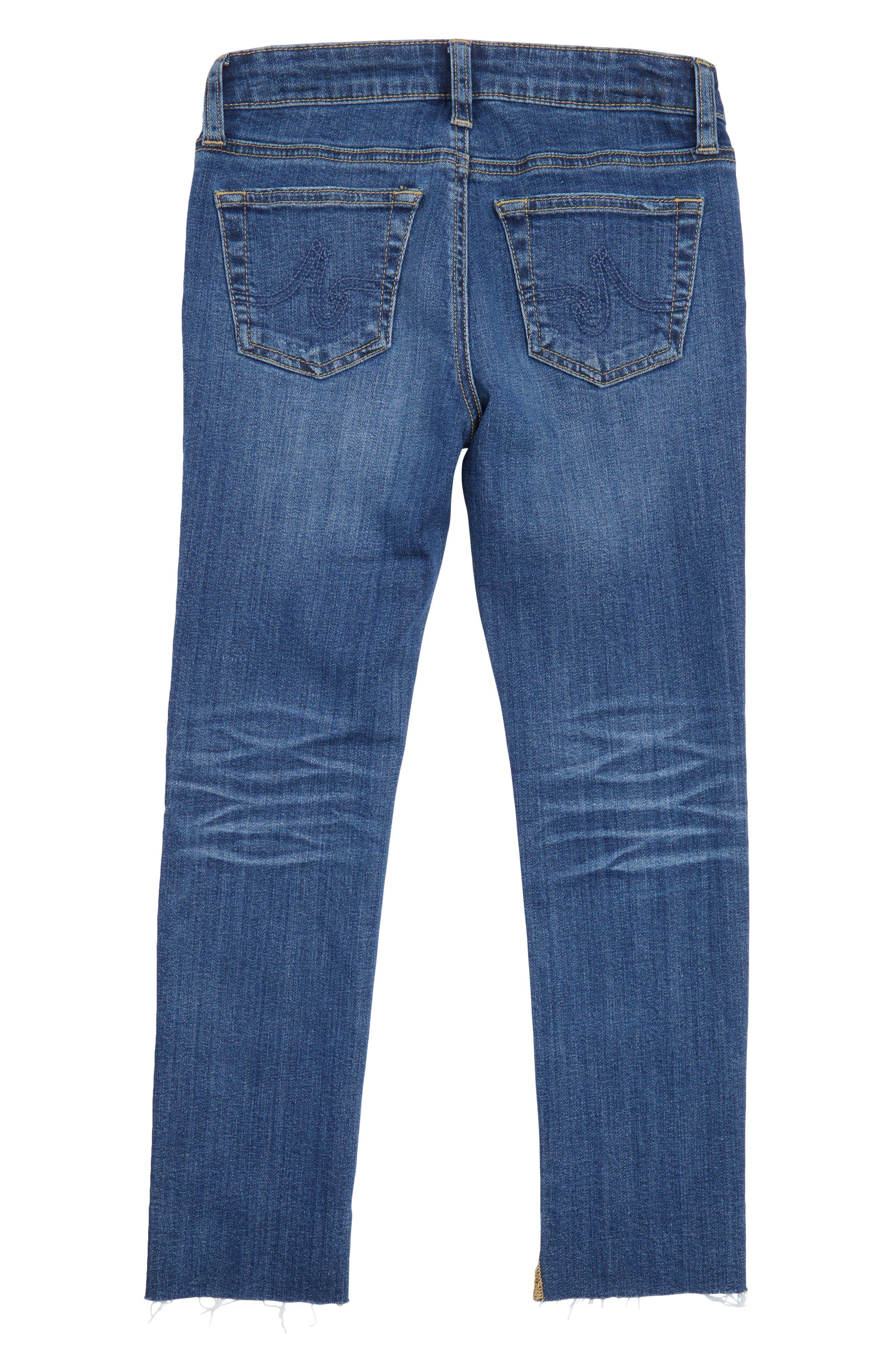 Alternate Image 2  - ag adriano goldschmied kids The Kate Slim Straight Leg Jeans (Big Girls)