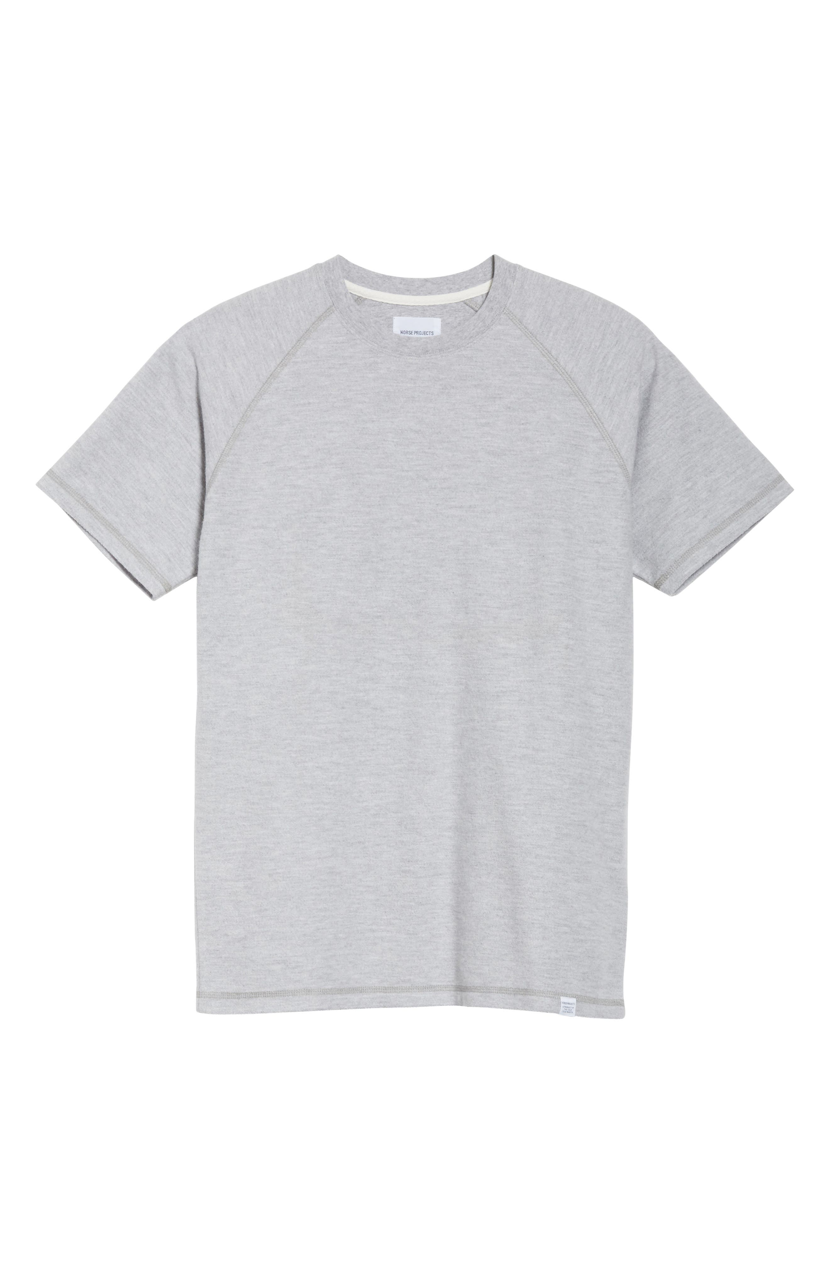 Victor Brushed Cotton T-Shirt,                             Alternate thumbnail 8, color,                             Light Grey