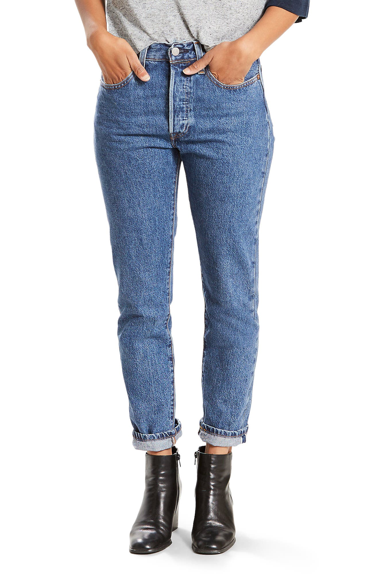 Levi's® 501 High Waist Skinny Jeans (Pop Rock)