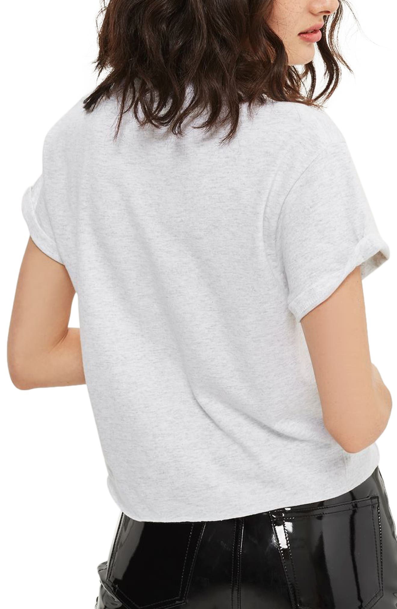 Je T'aime Graphic Crop Tee,                             Alternate thumbnail 2, color,                             Light Grey