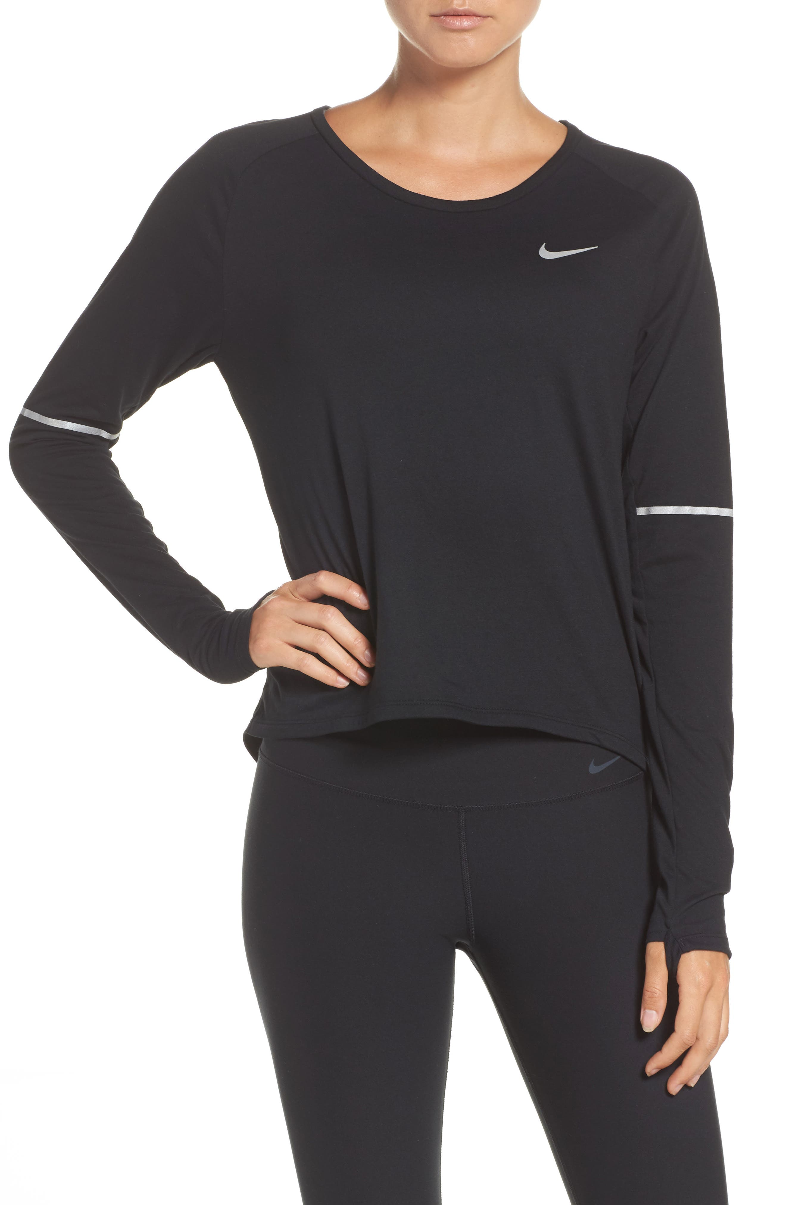 Breathe Running Top,                             Main thumbnail 1, color,                             Black