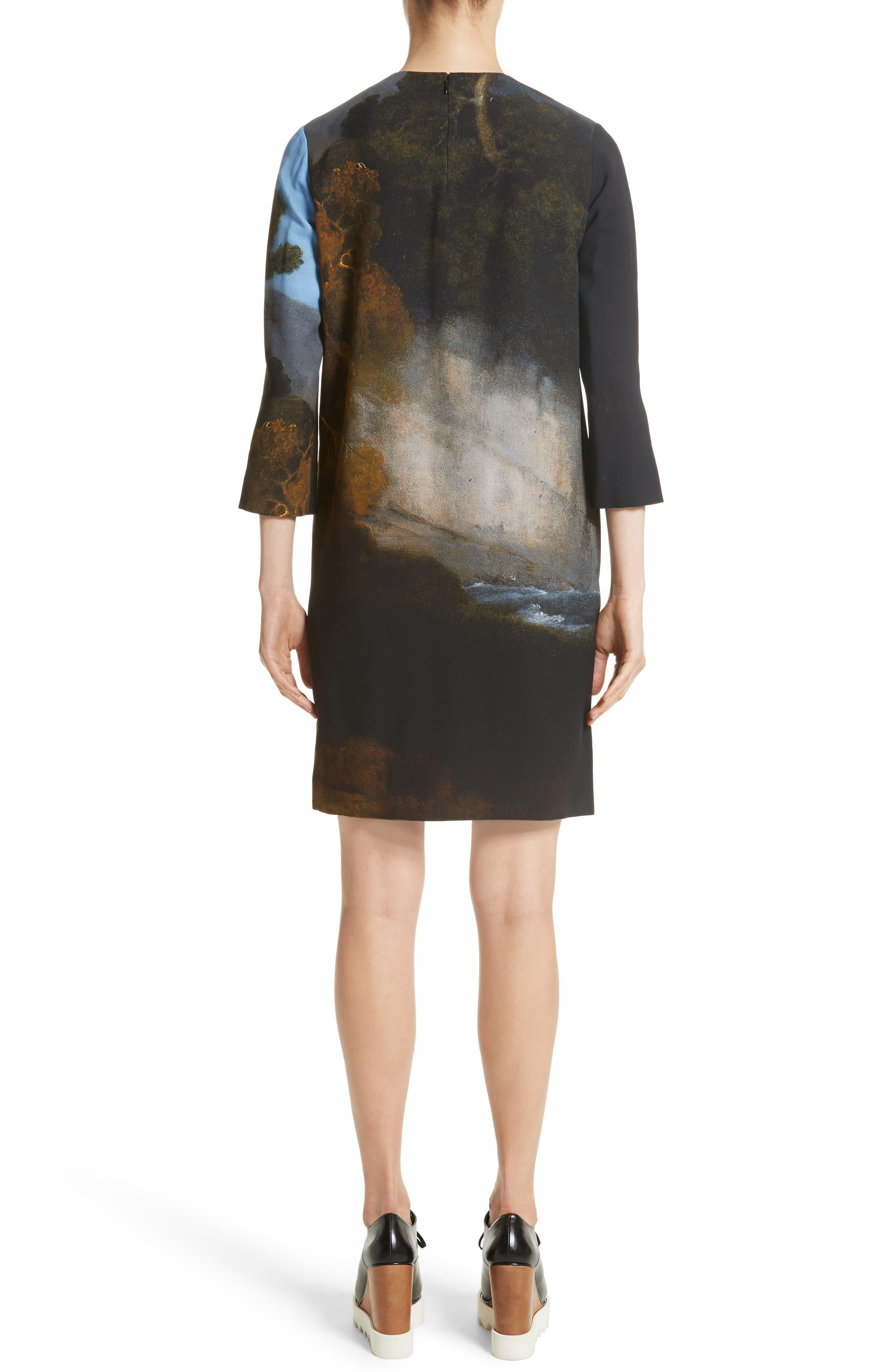 Kira Horse Print Dress,                             Alternate thumbnail 2, color,                             Black