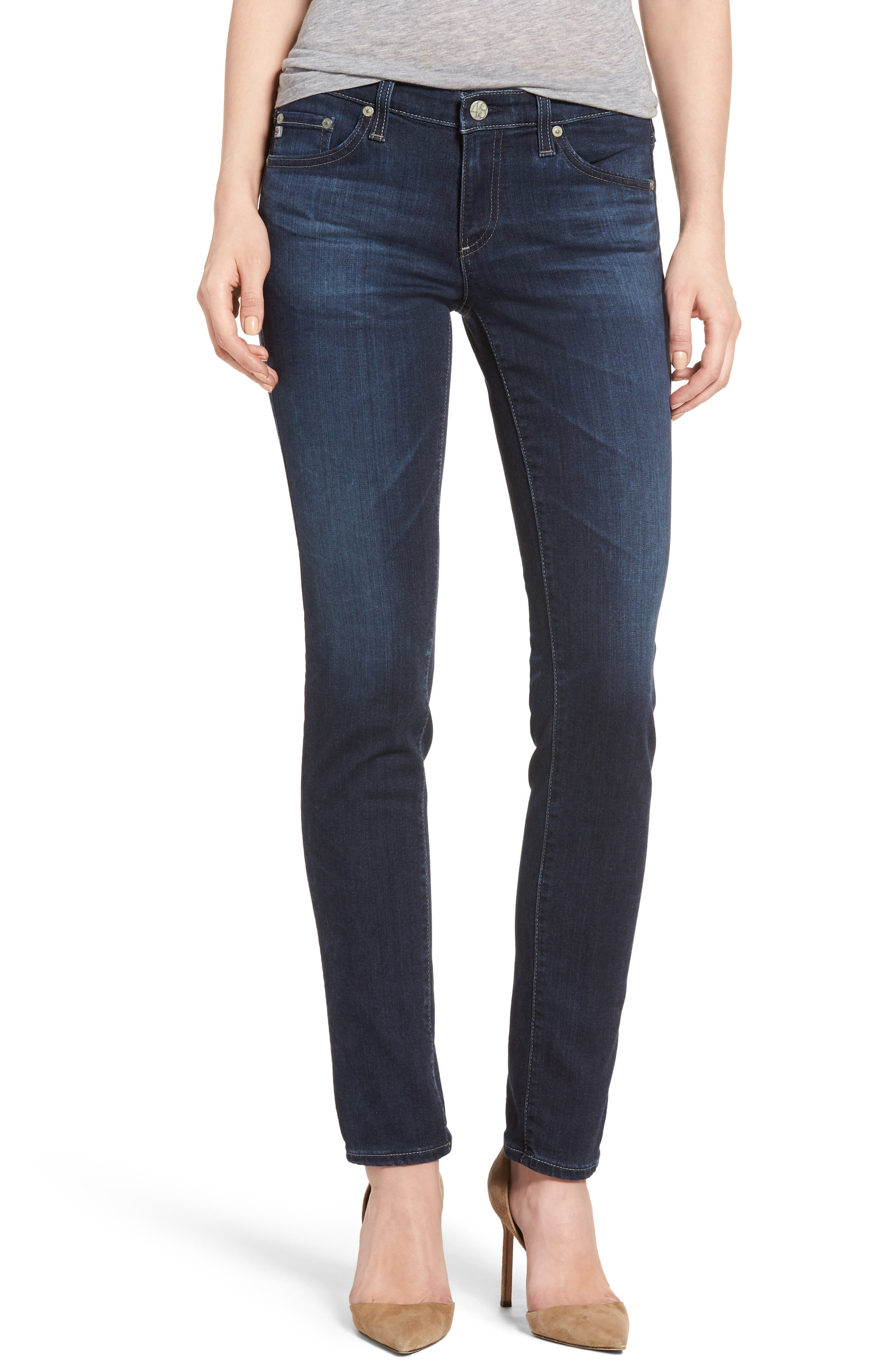 AG 'The Stilt' Cigarette Skinny Jeans (02 Years Dark View)
