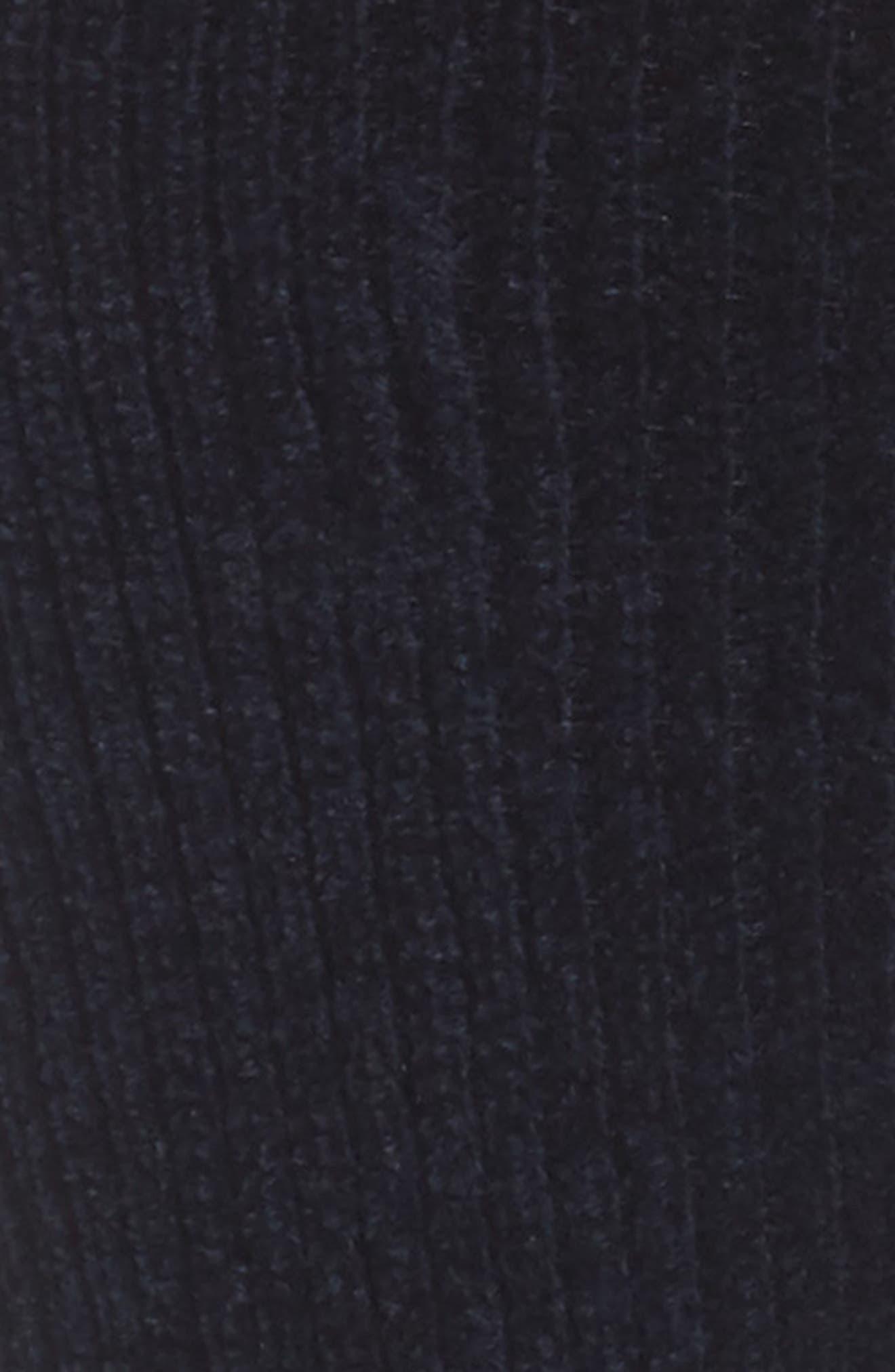 Chenille & Cotton Blend Socks,                             Alternate thumbnail 2, color,                             Marine