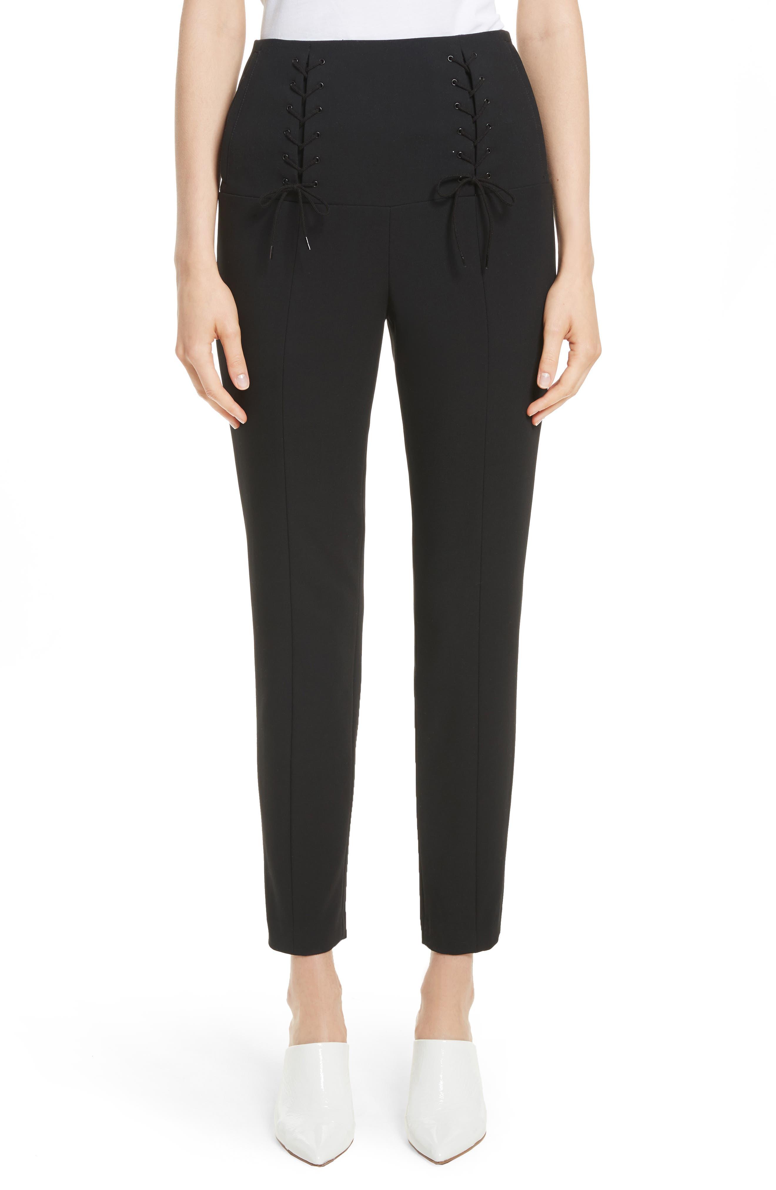 Tibi Anson Tie Detail Pants