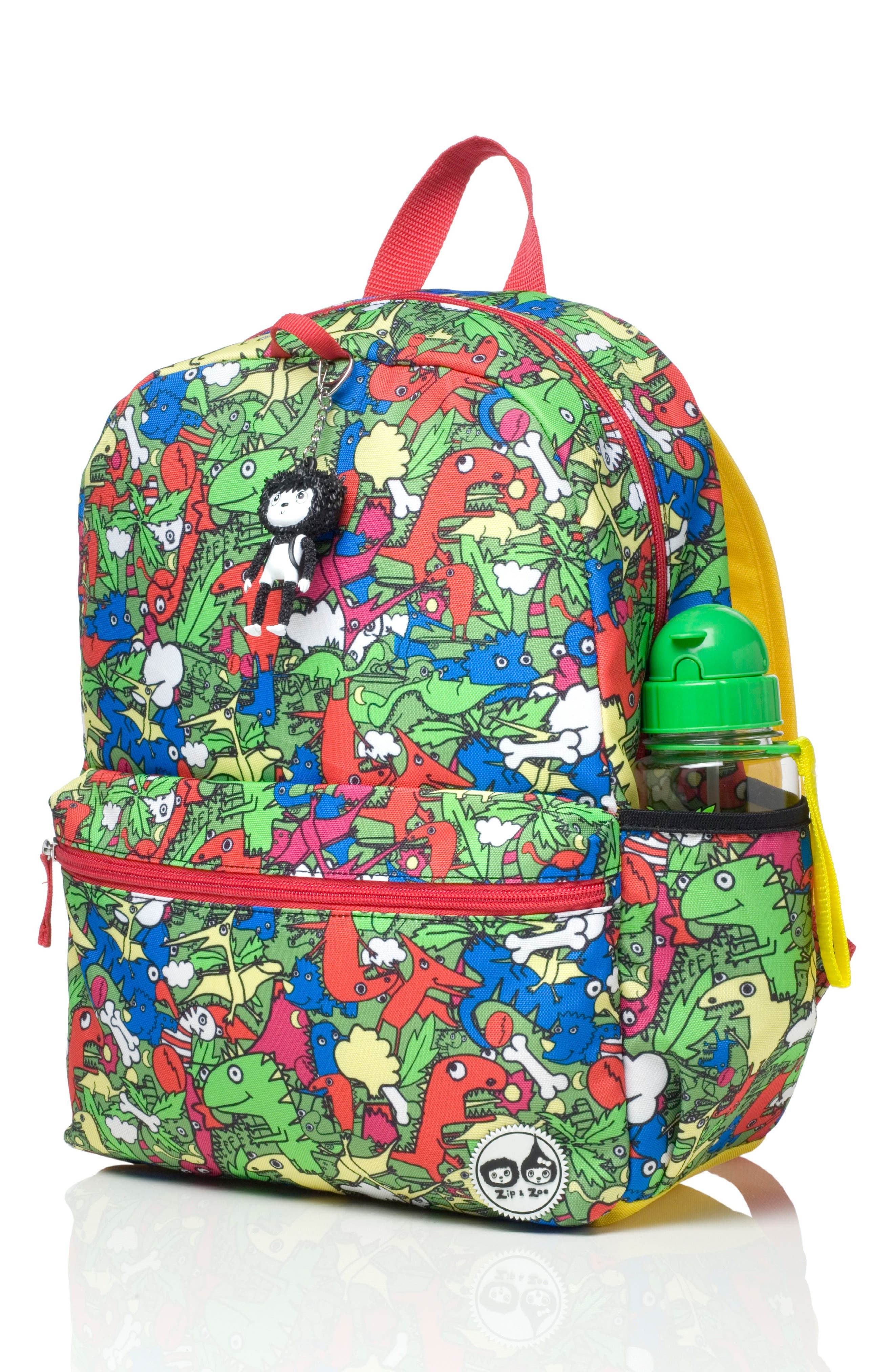Zip & Zoe Junior Backpack Set,                             Alternate thumbnail 3, color,                             Dino Multi/ Dylan