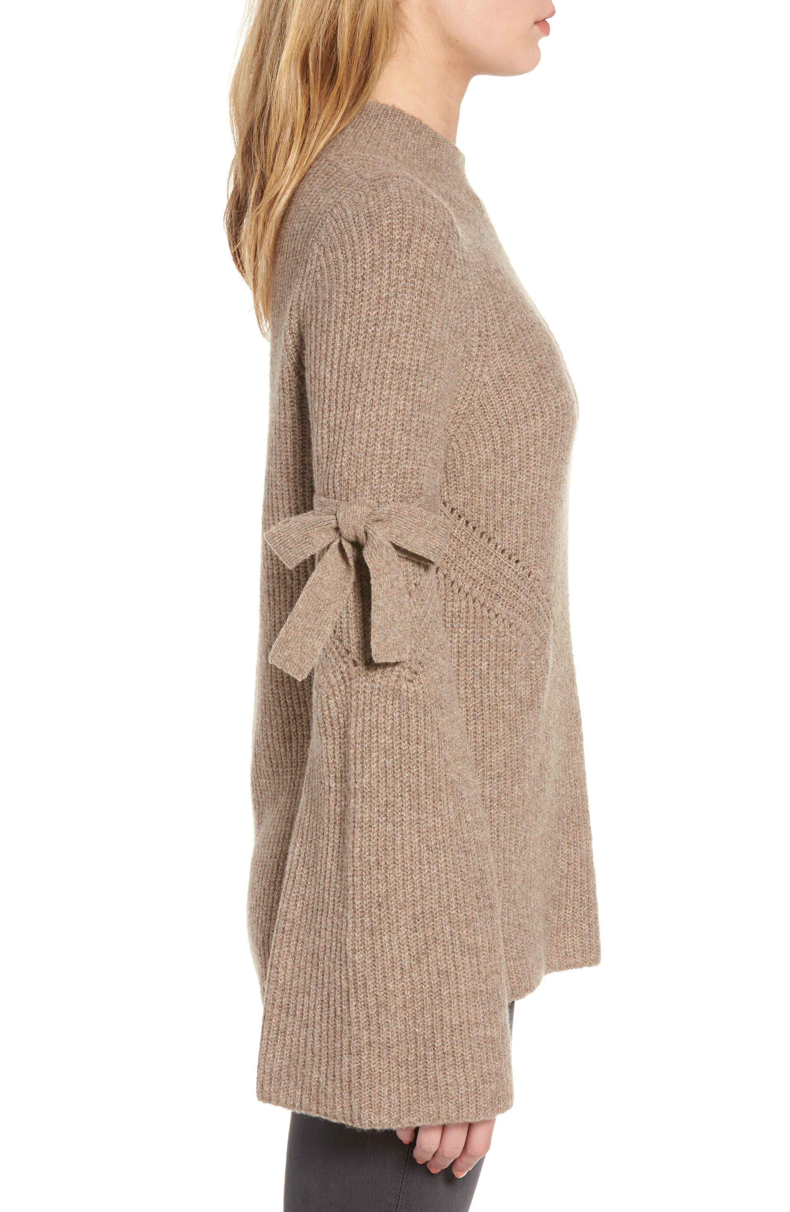 Alternate Image 3  - Chelsea28 Tie Bell Sleeve Sweater