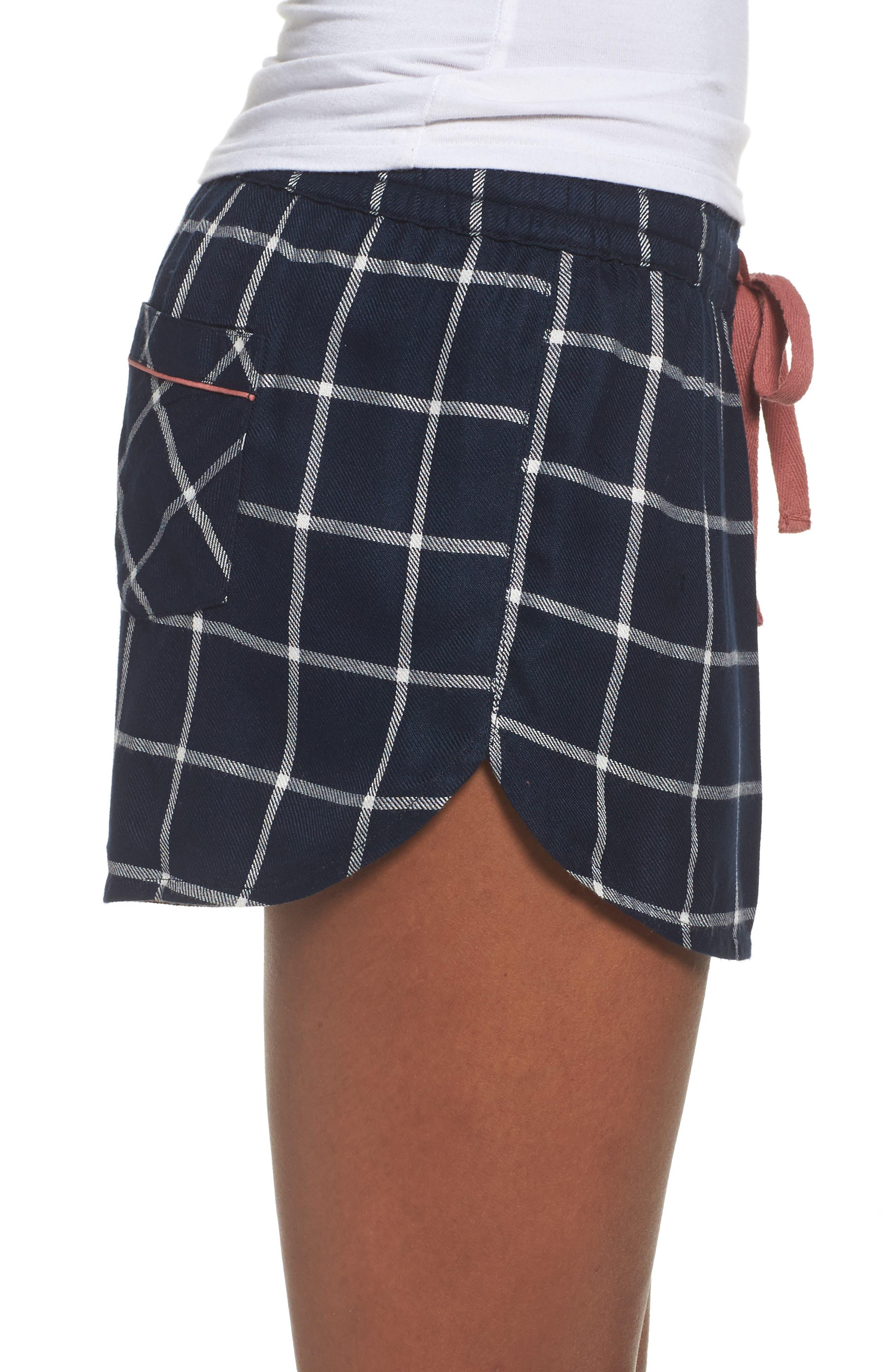 Alternate Image 3  - Topshop Windowpane Check Pajama Shorts