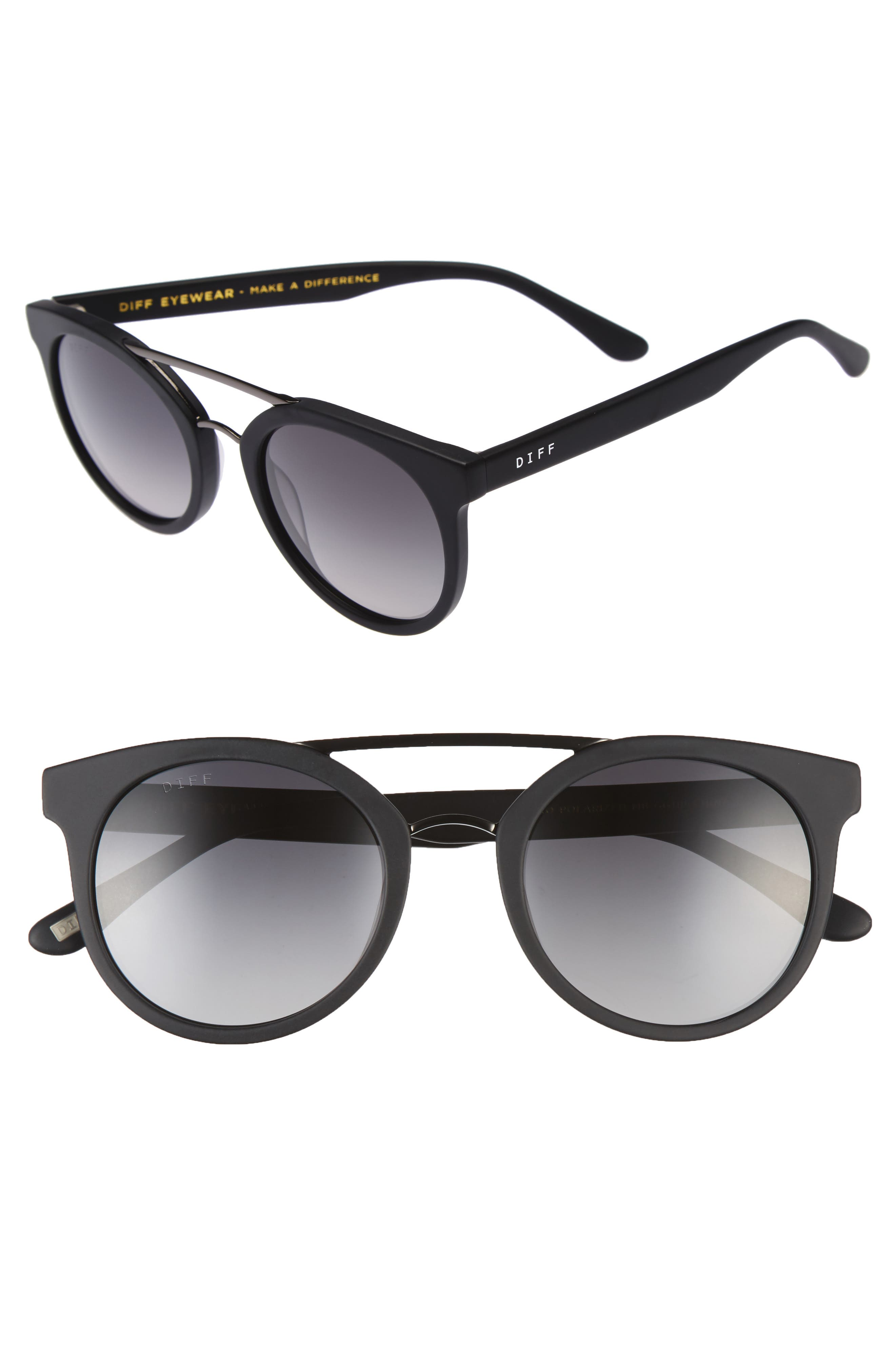 DIFF Astro 49mm Polarized Aviator Sunglasses