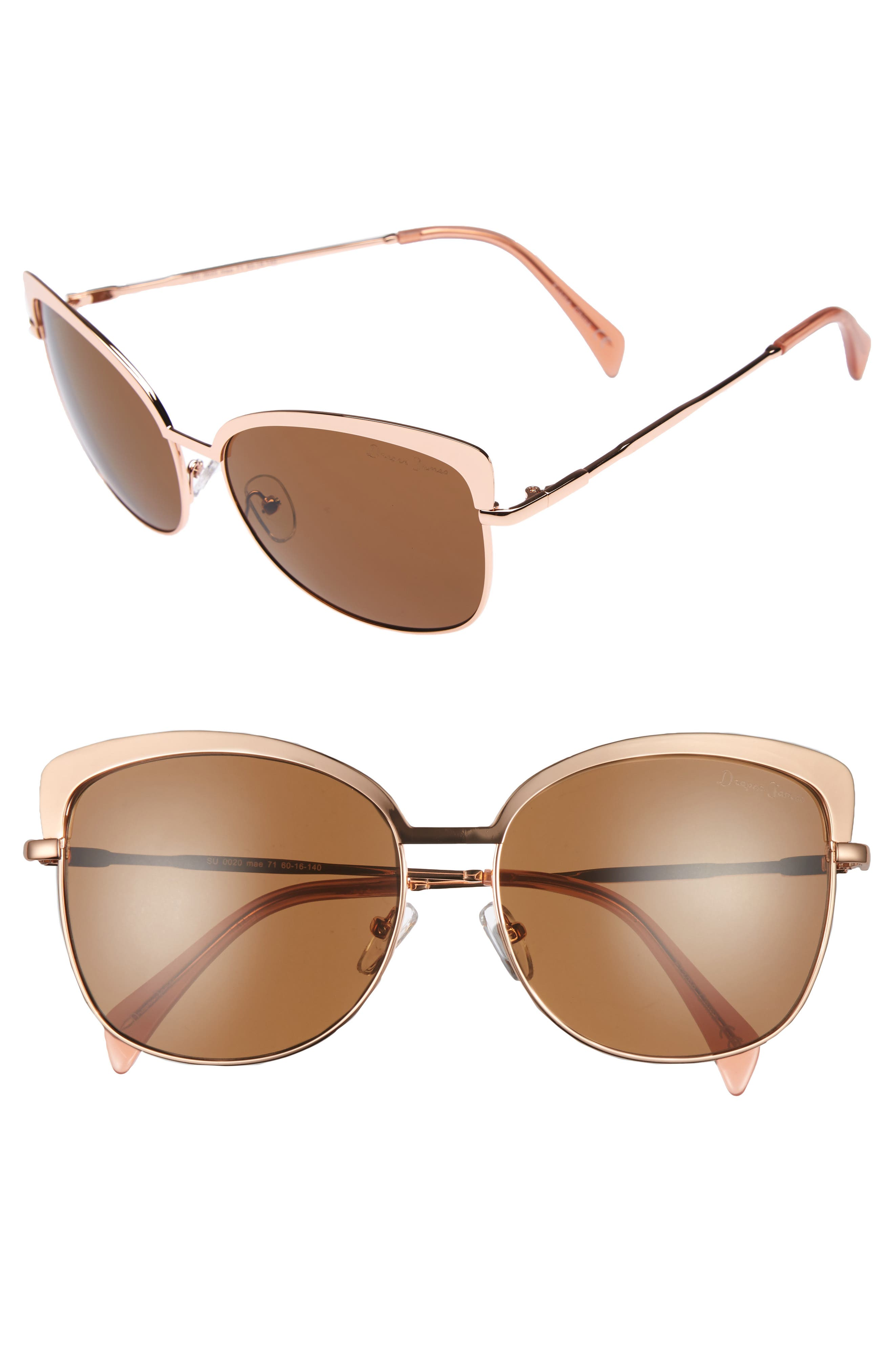 Main Image - Draper James 60mm Cat Eye Sunglasses