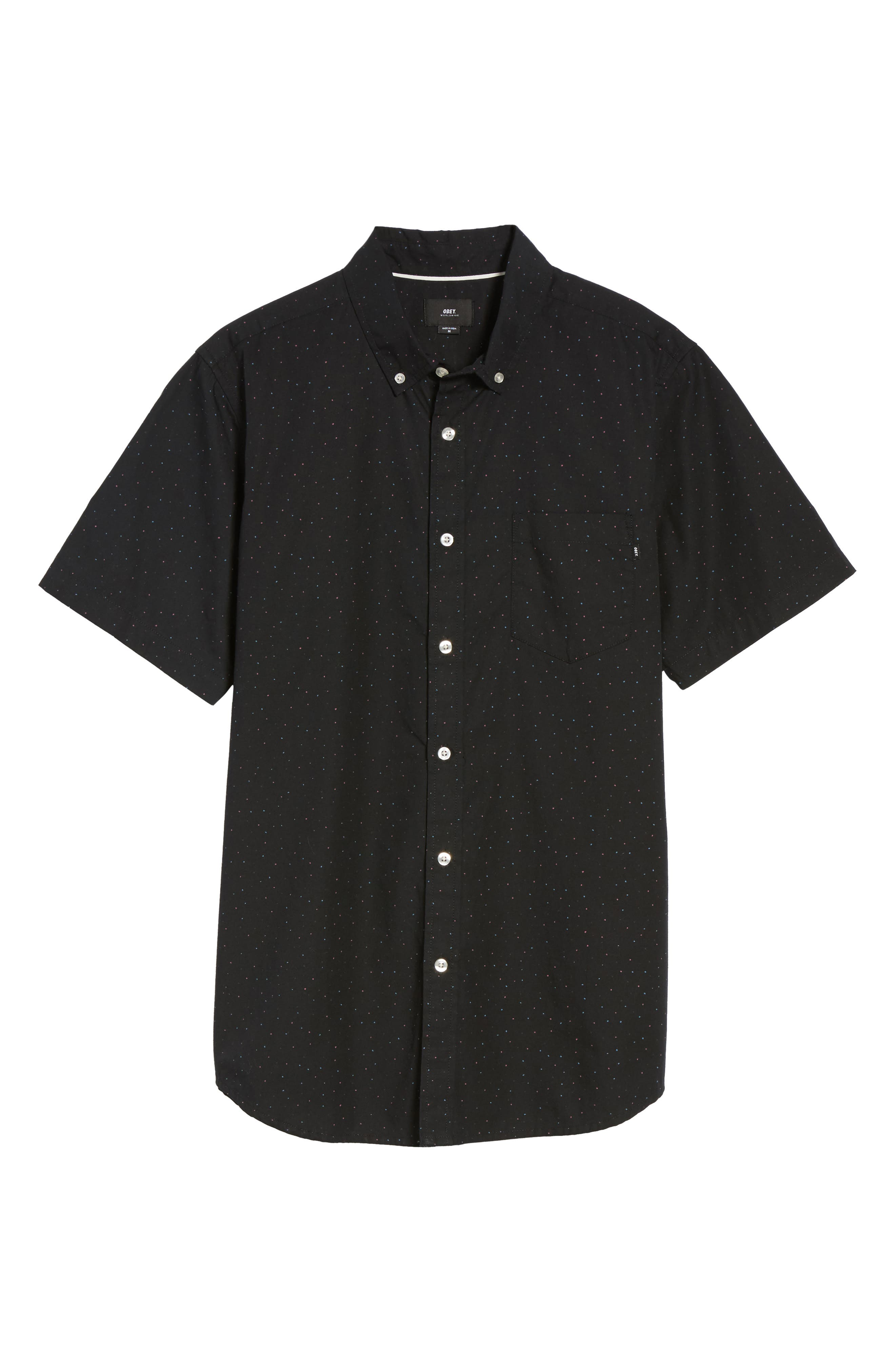 Alternate Image 6  - Obey Voyage Flecked Woven Shirt