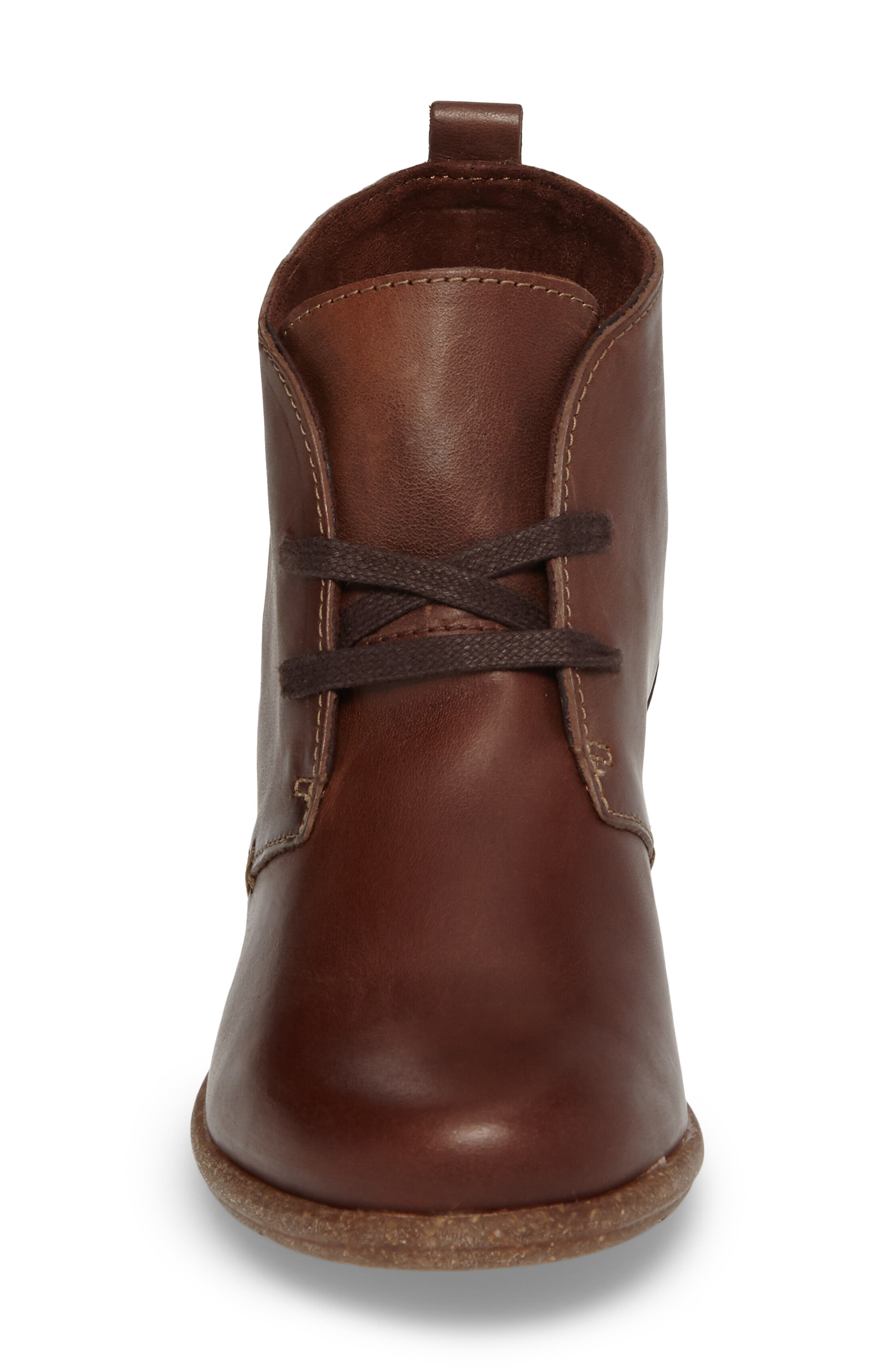 Wilrose Sage Bootie,                             Alternate thumbnail 4, color,                             Brown Nubuck Leather