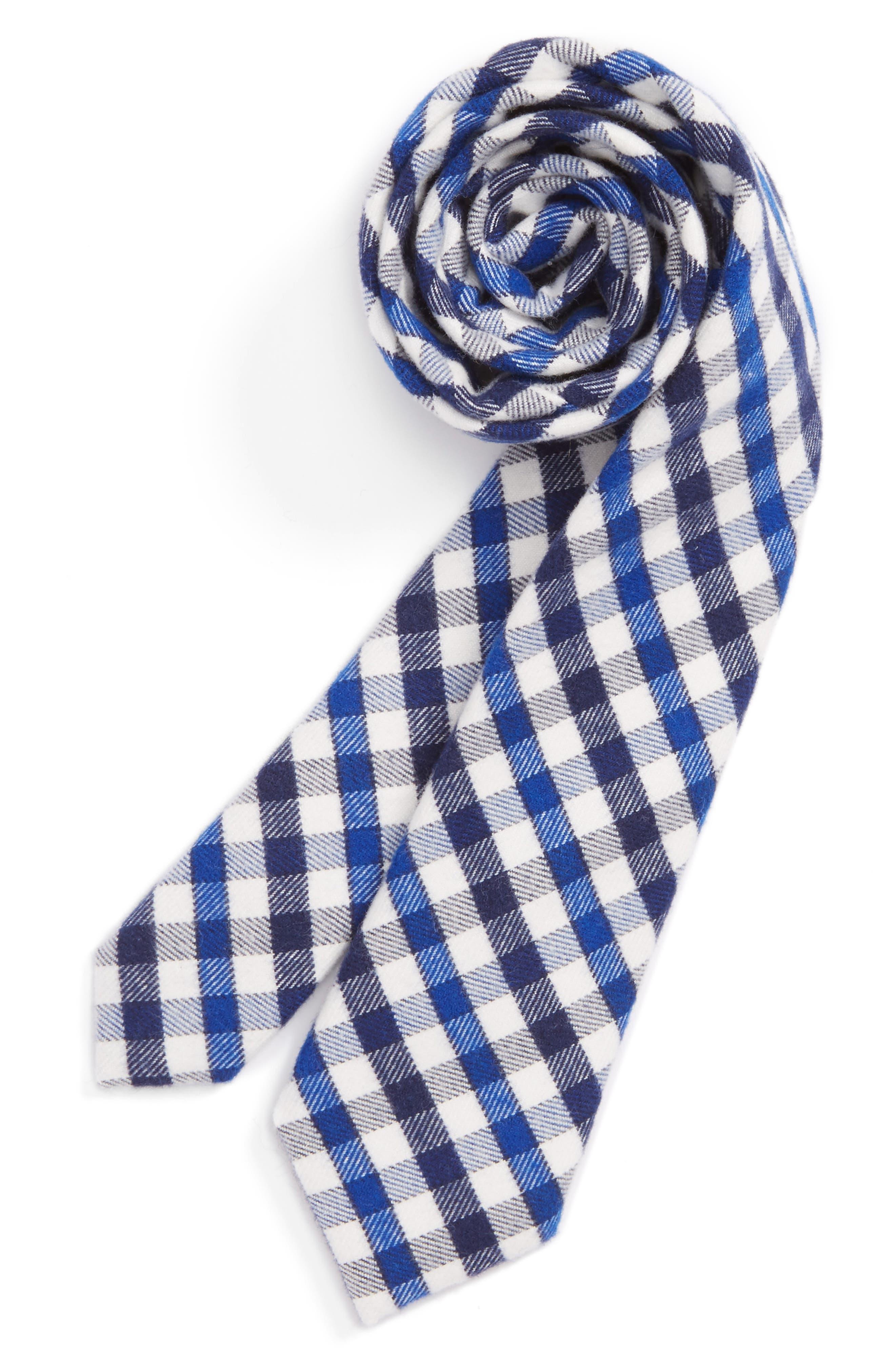 Check Tie,                         Main,                         color, Navy