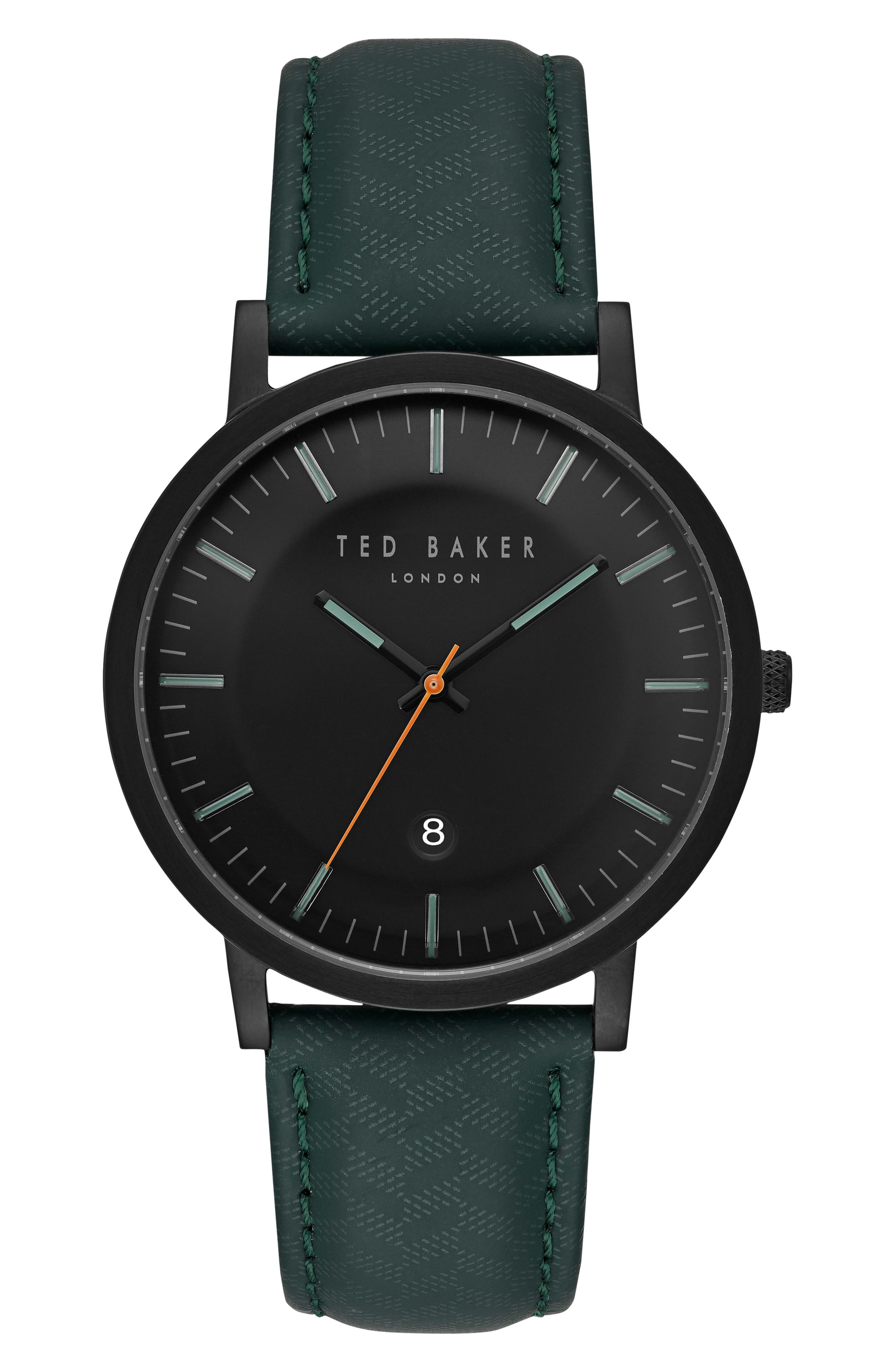 Alternate Image 1 Selected - Ted Baker London David Leather Strap Watch, 40mm