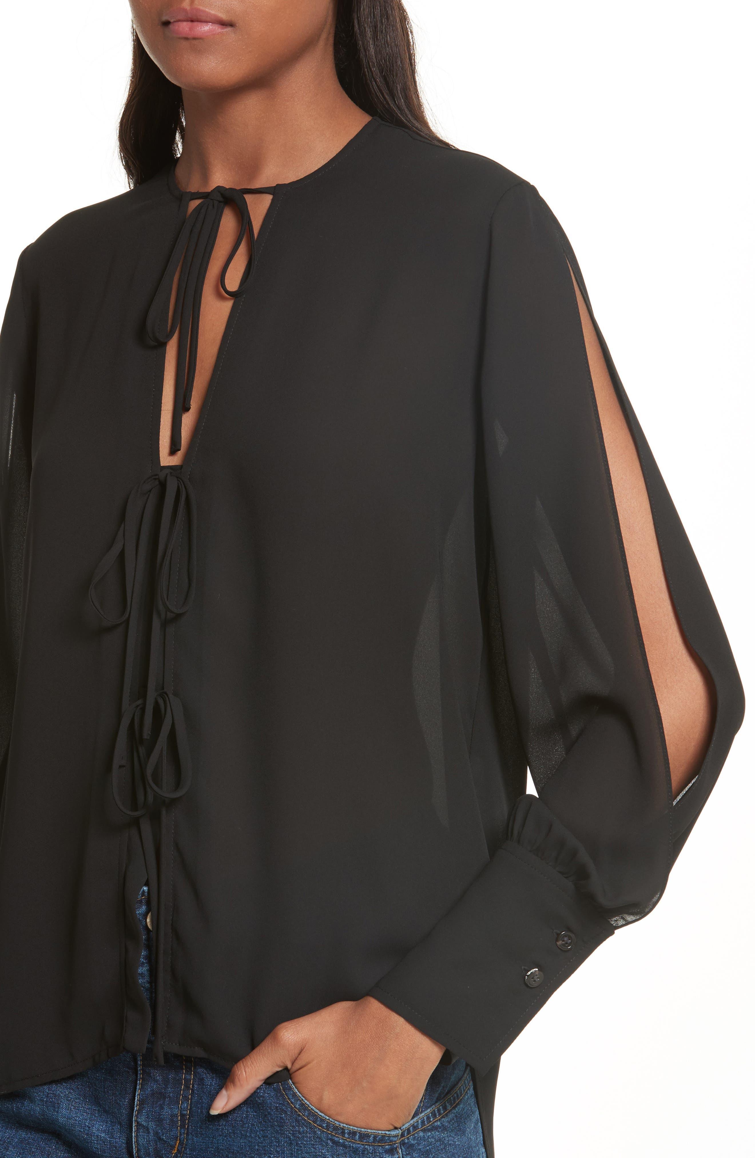 Alternate Image 4  - Rachel Comey Meryl Tie Front Blouse