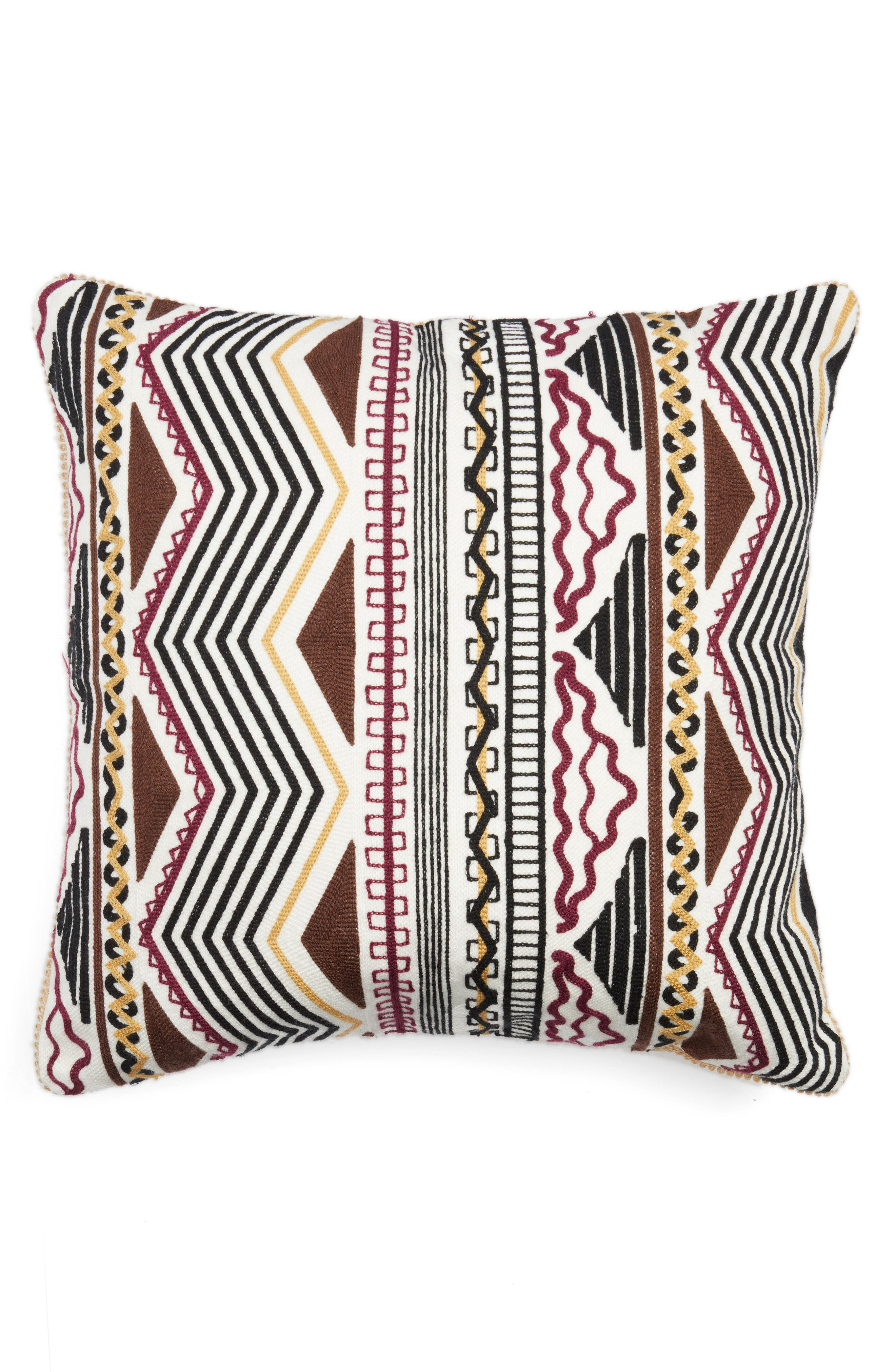 Zander Embroidered Pillow,                             Main thumbnail 1, color,                             Multi