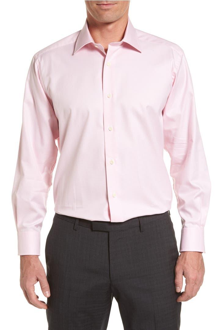 David donahue regular fit houndstooth dress shirt nordstrom for Regular fit dress shirt