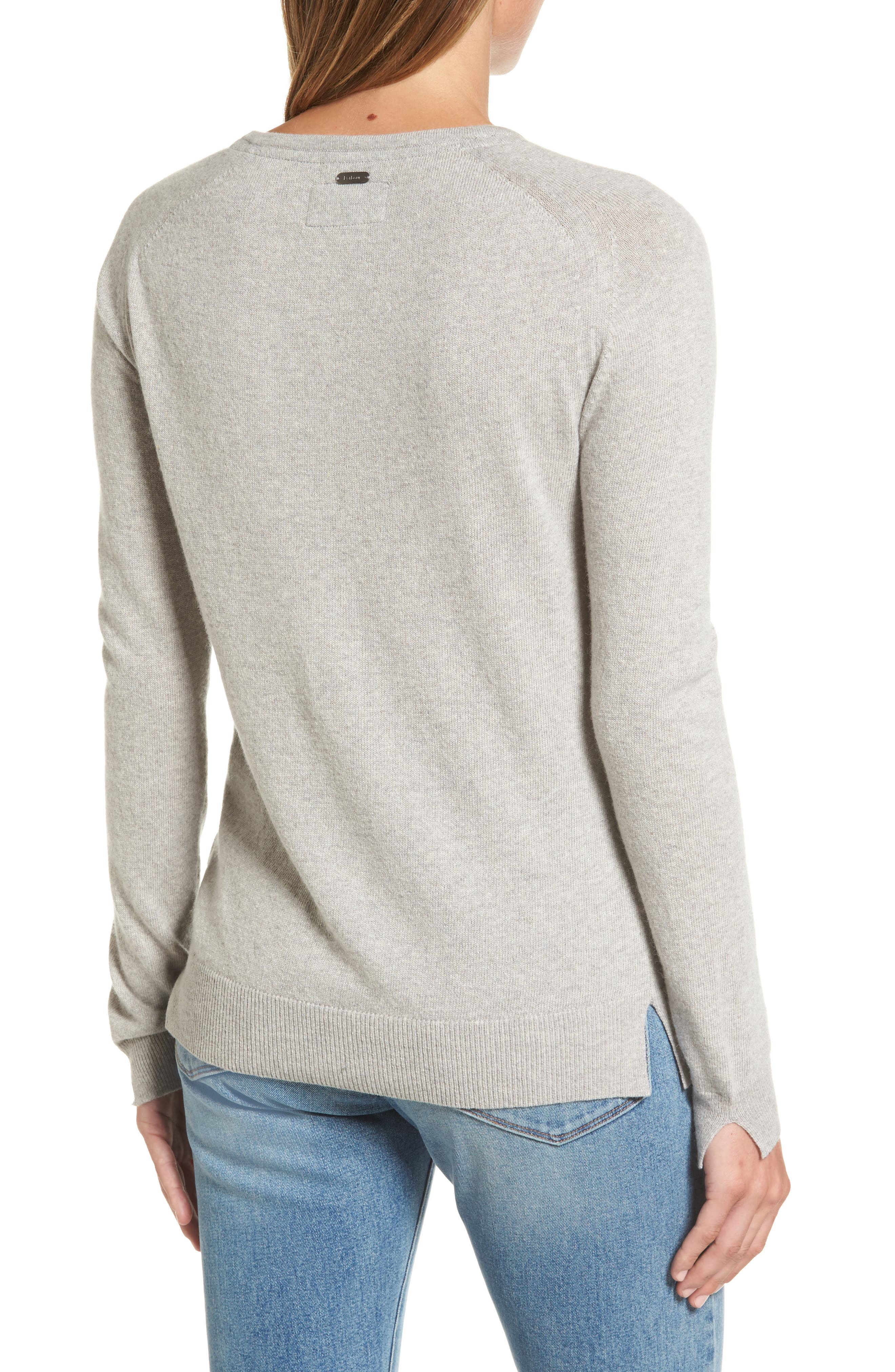 Mill Wool Blend Boatneck Sweater,                             Alternate thumbnail 2, color,                             Light Grey Marl