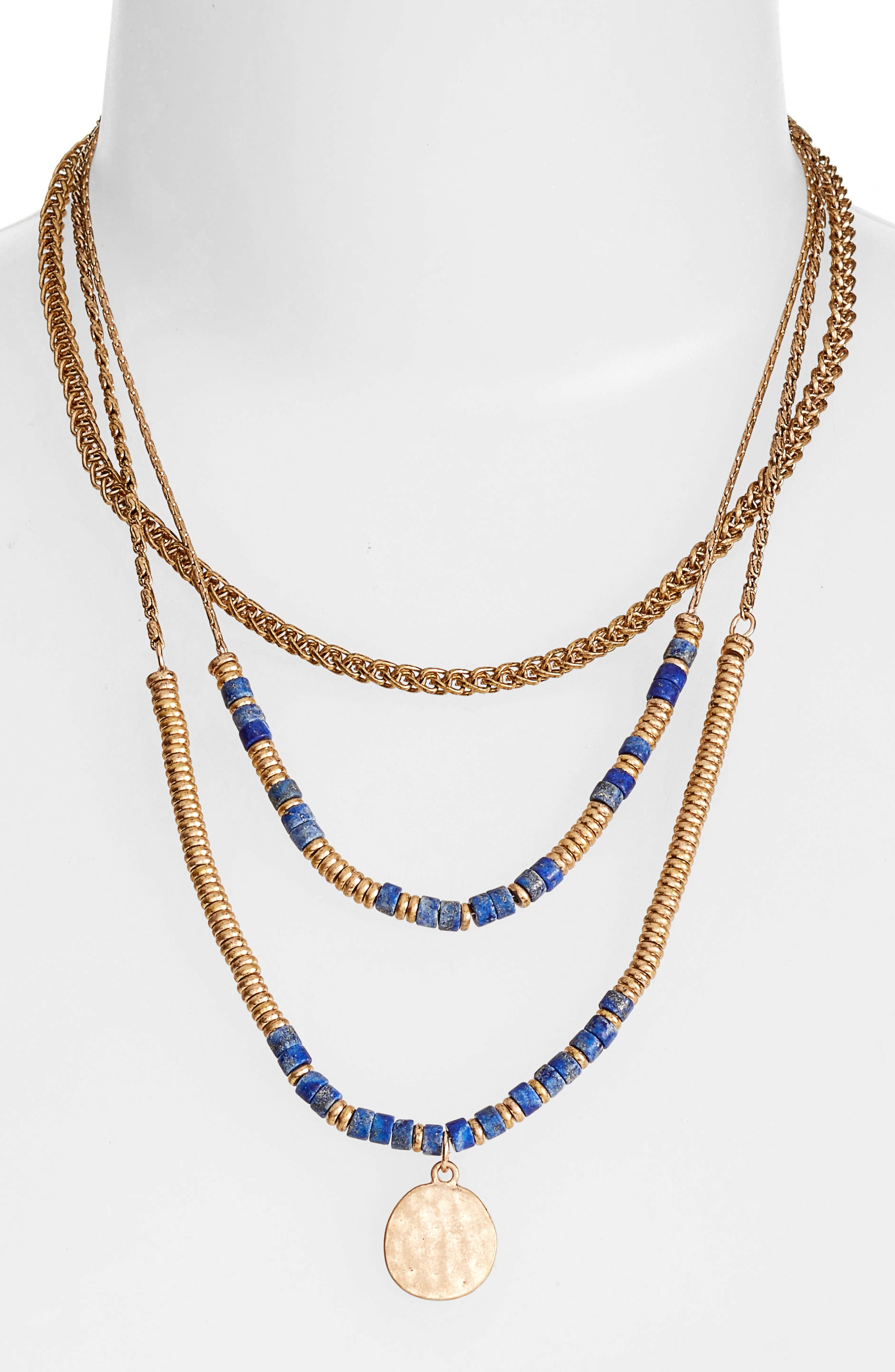 Treasure & Bond Beaded Frontal Necklace